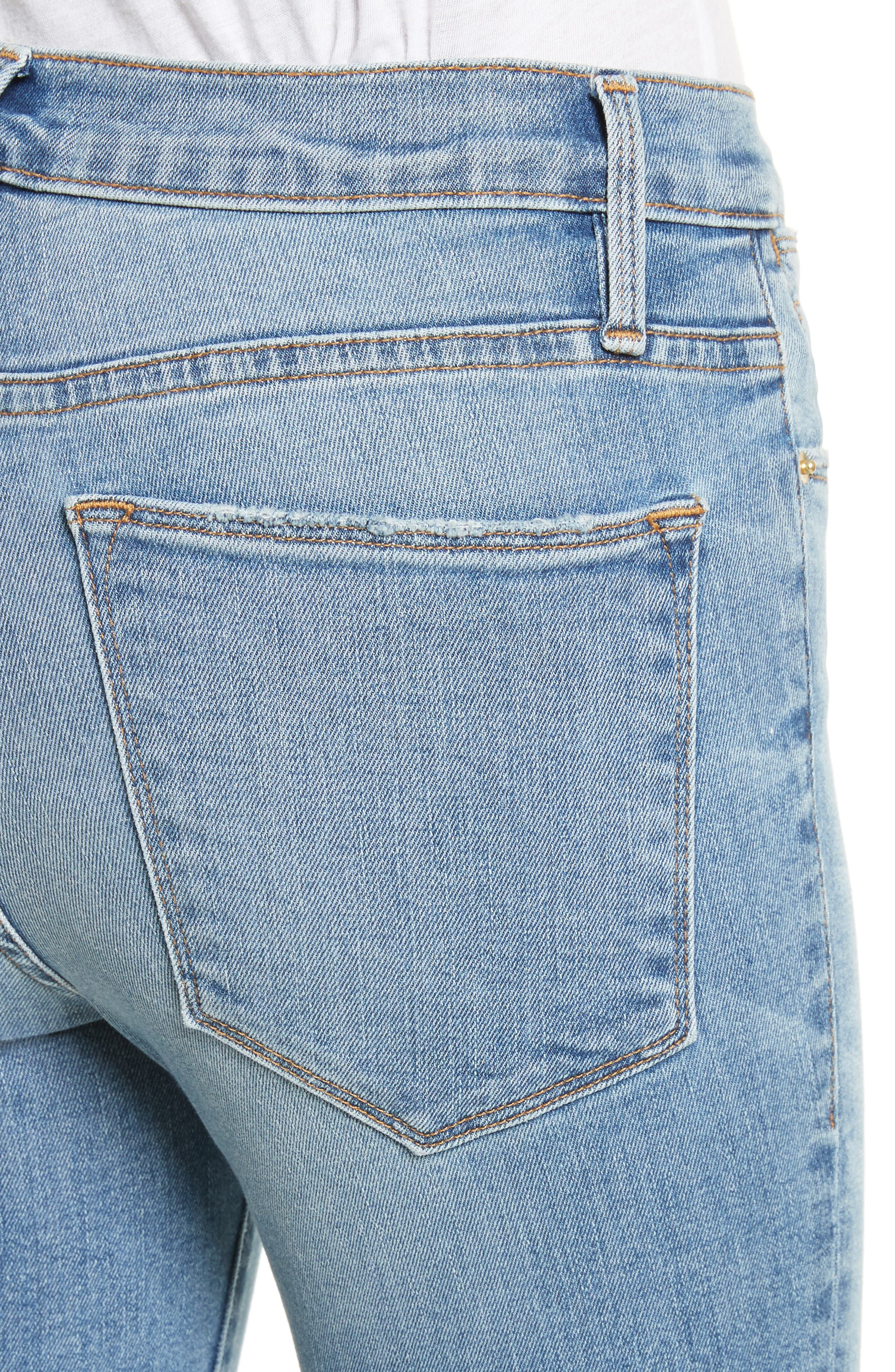 Le High Crop Skinny Jeans,                             Alternate thumbnail 4, color,                             Loehr