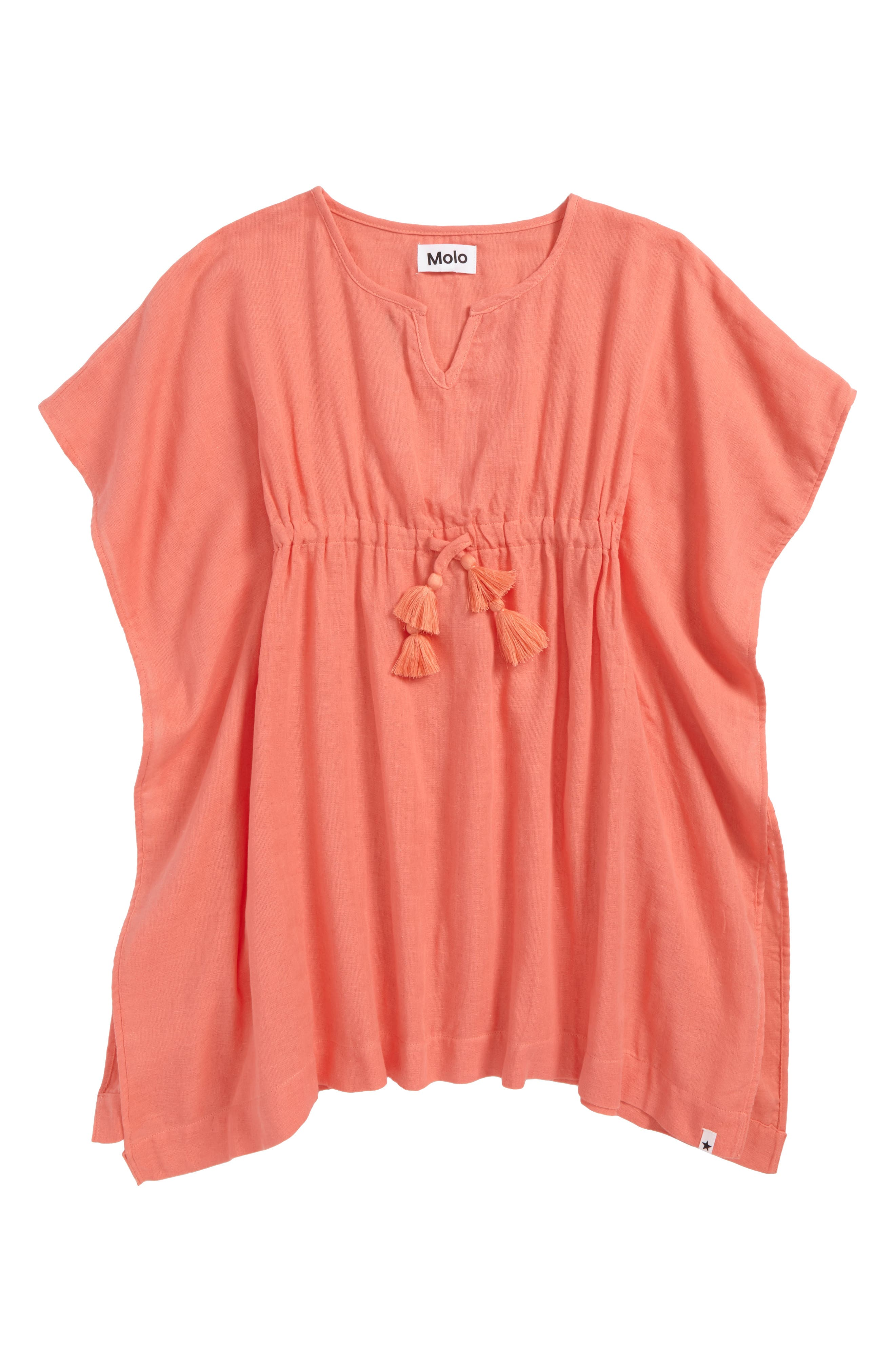 Caly Batwing Cover-Up,                         Main,                         color, Georgia Peach