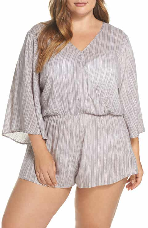 Elan Cover-Up Romper (Plus Size)