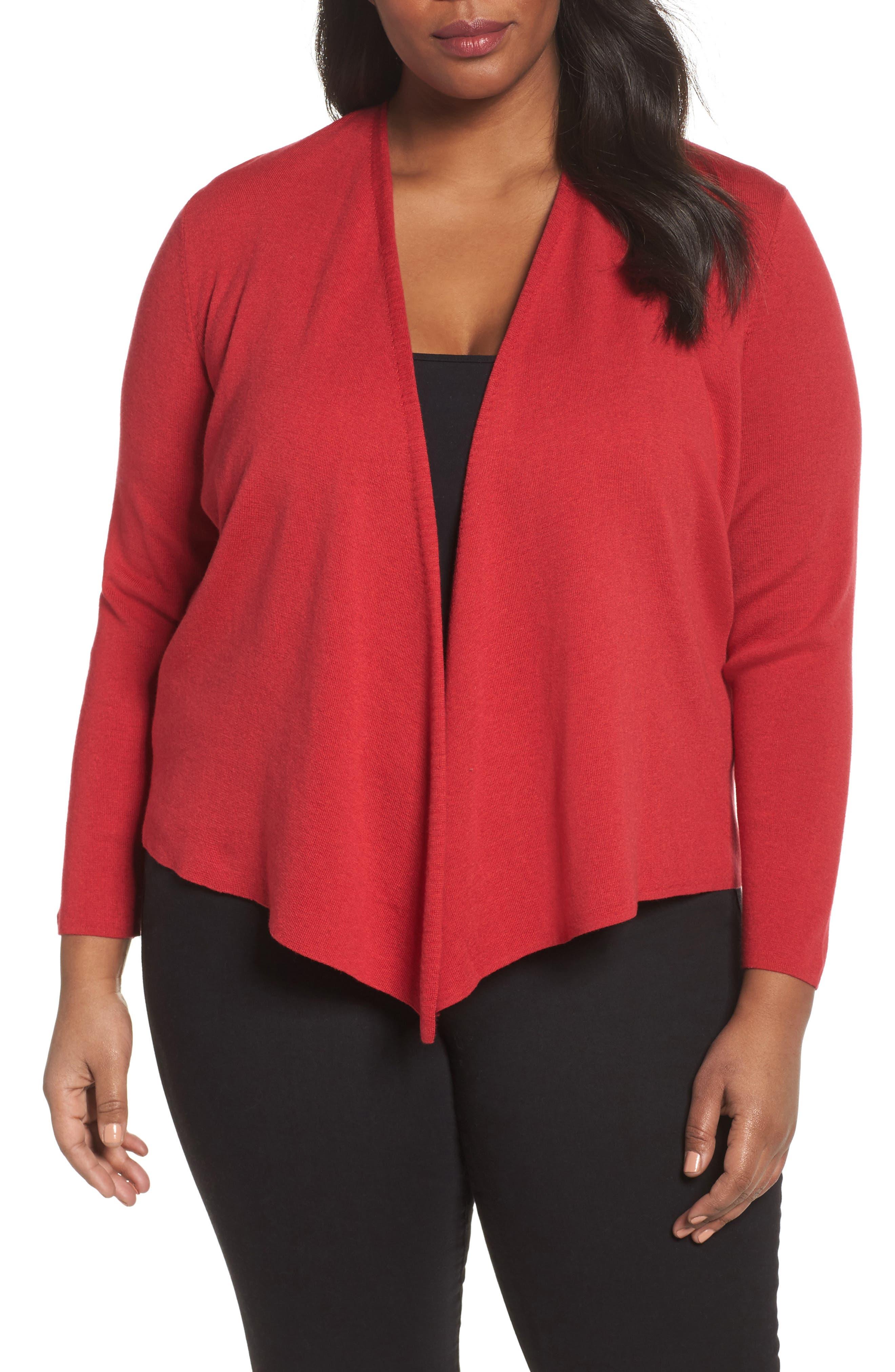 4-Way Convertible Cardigan,                         Main,                         color, True Red