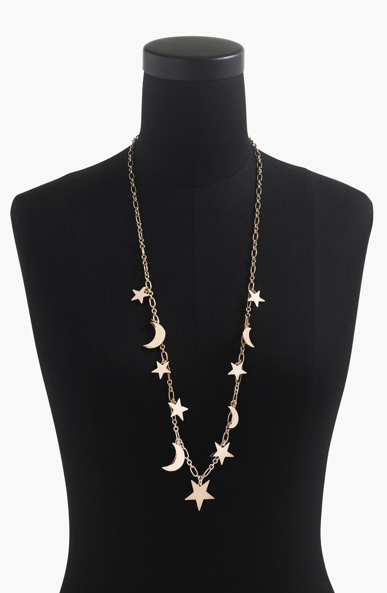 Galaxy Necklace,                         Main,                         color, Gold
