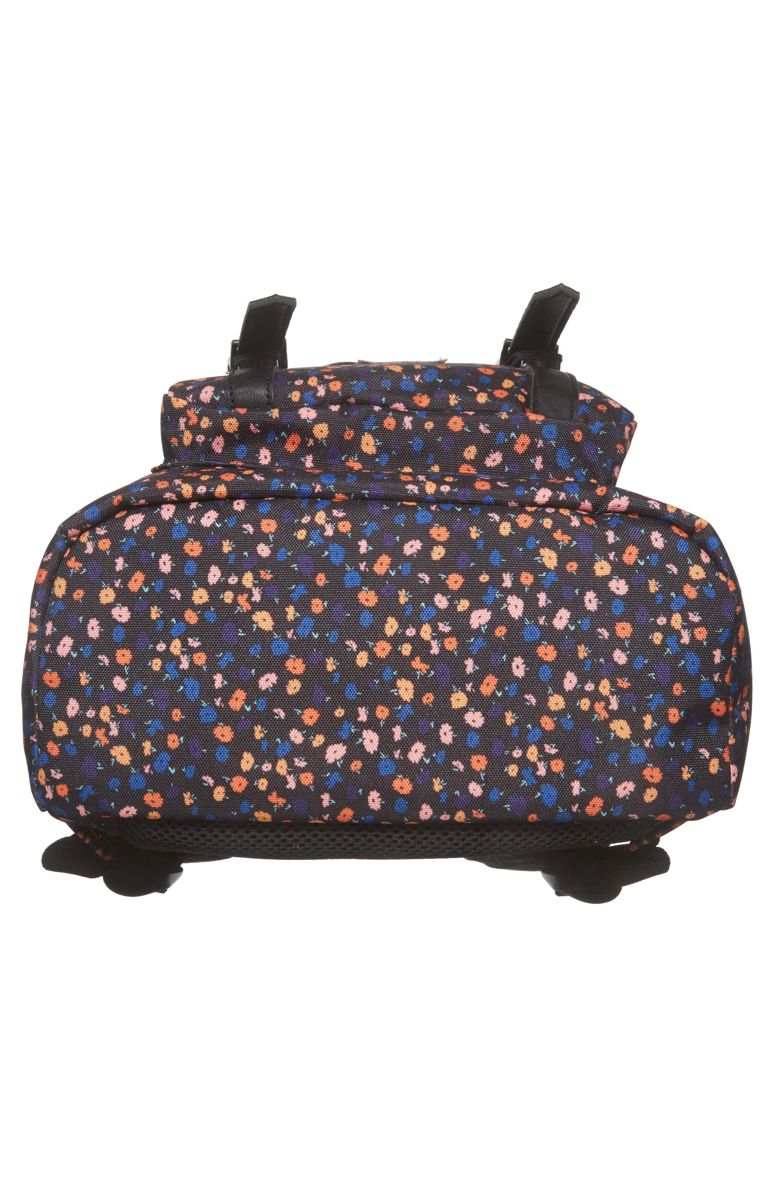 Little America - Mid Volume Backpack,                             Alternate thumbnail 4, color,                             Black Mini Floral