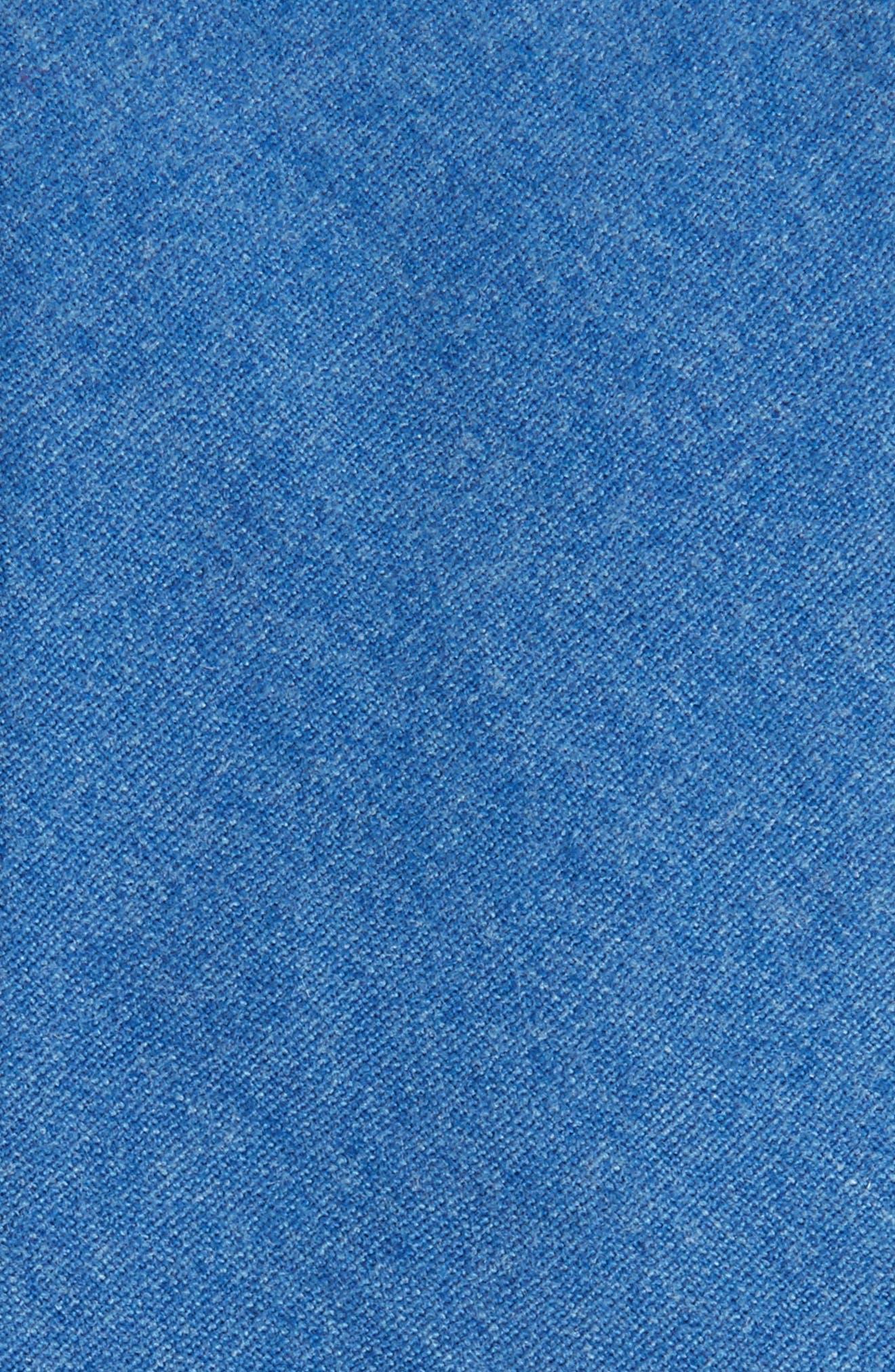Bert Solid Cotton Skinny Tie,                             Alternate thumbnail 2, color,                             Blue