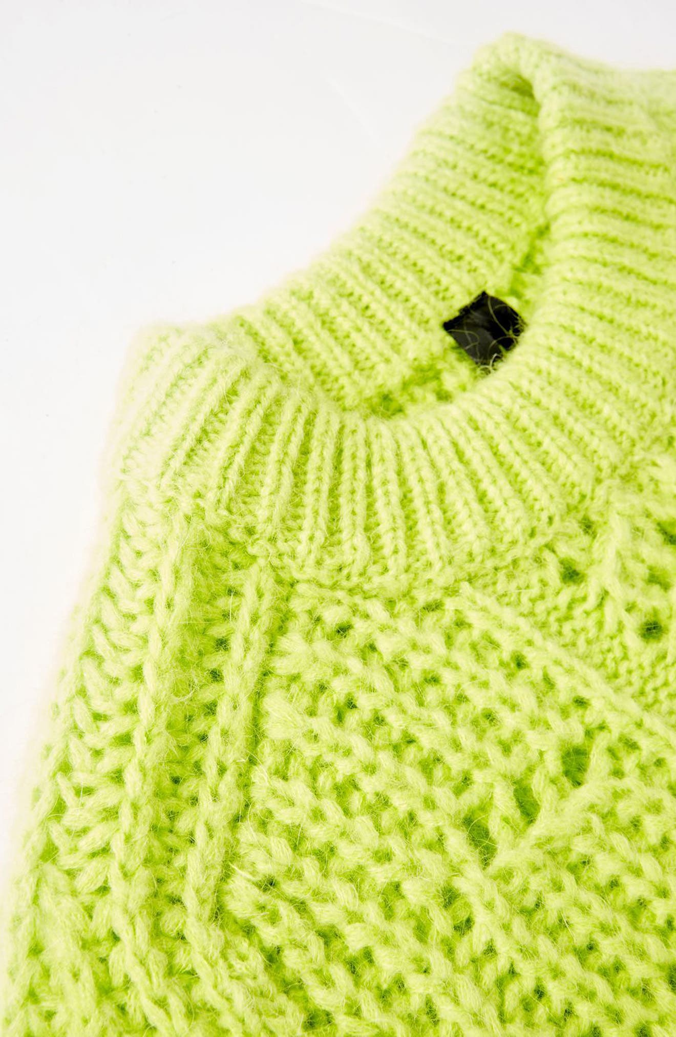 Cable Knit Sweater,                             Alternate thumbnail 2, color,                             Bright Green