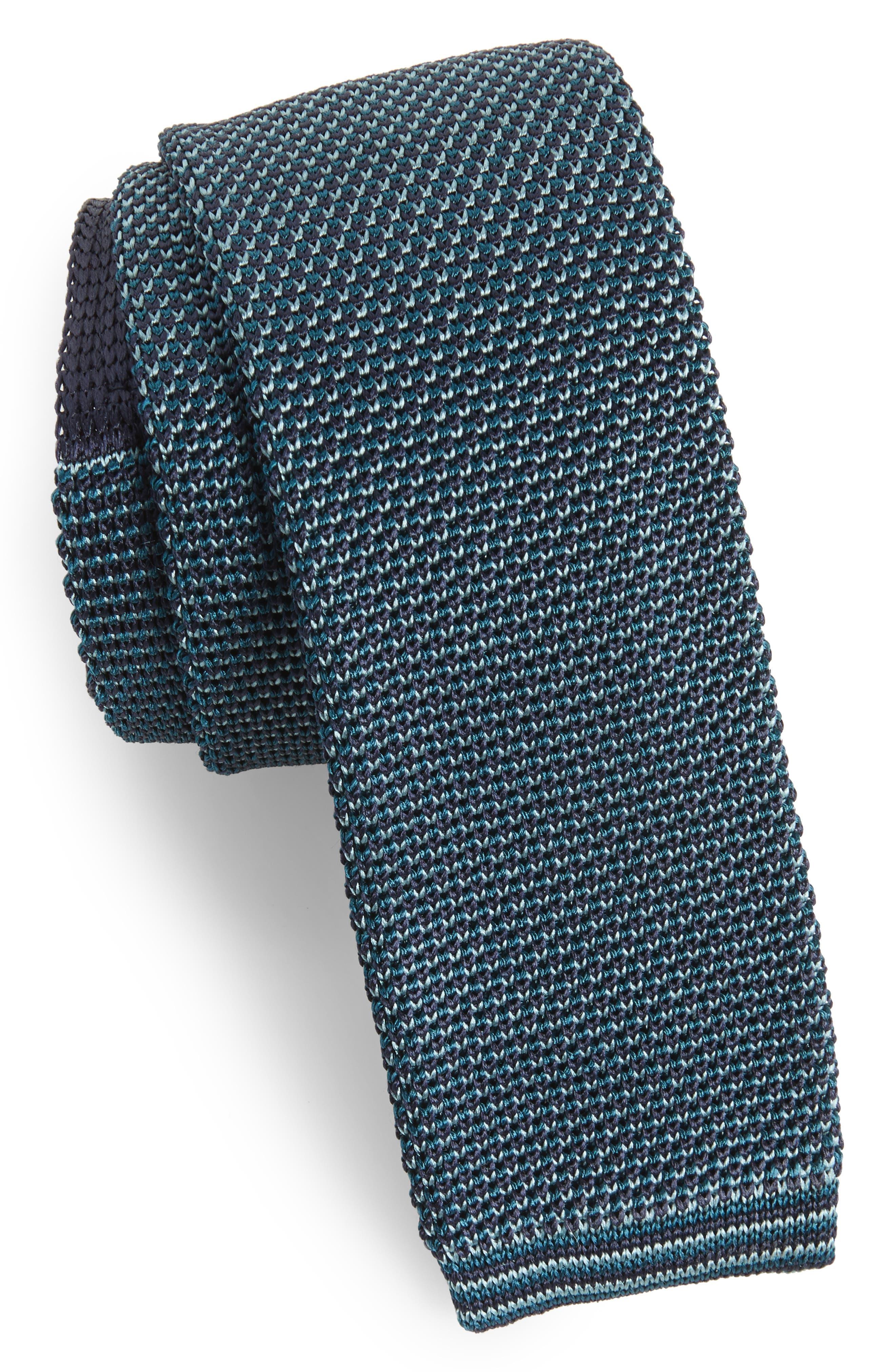 Ted Baker London Birdseye Knit Silk Skinny Tie