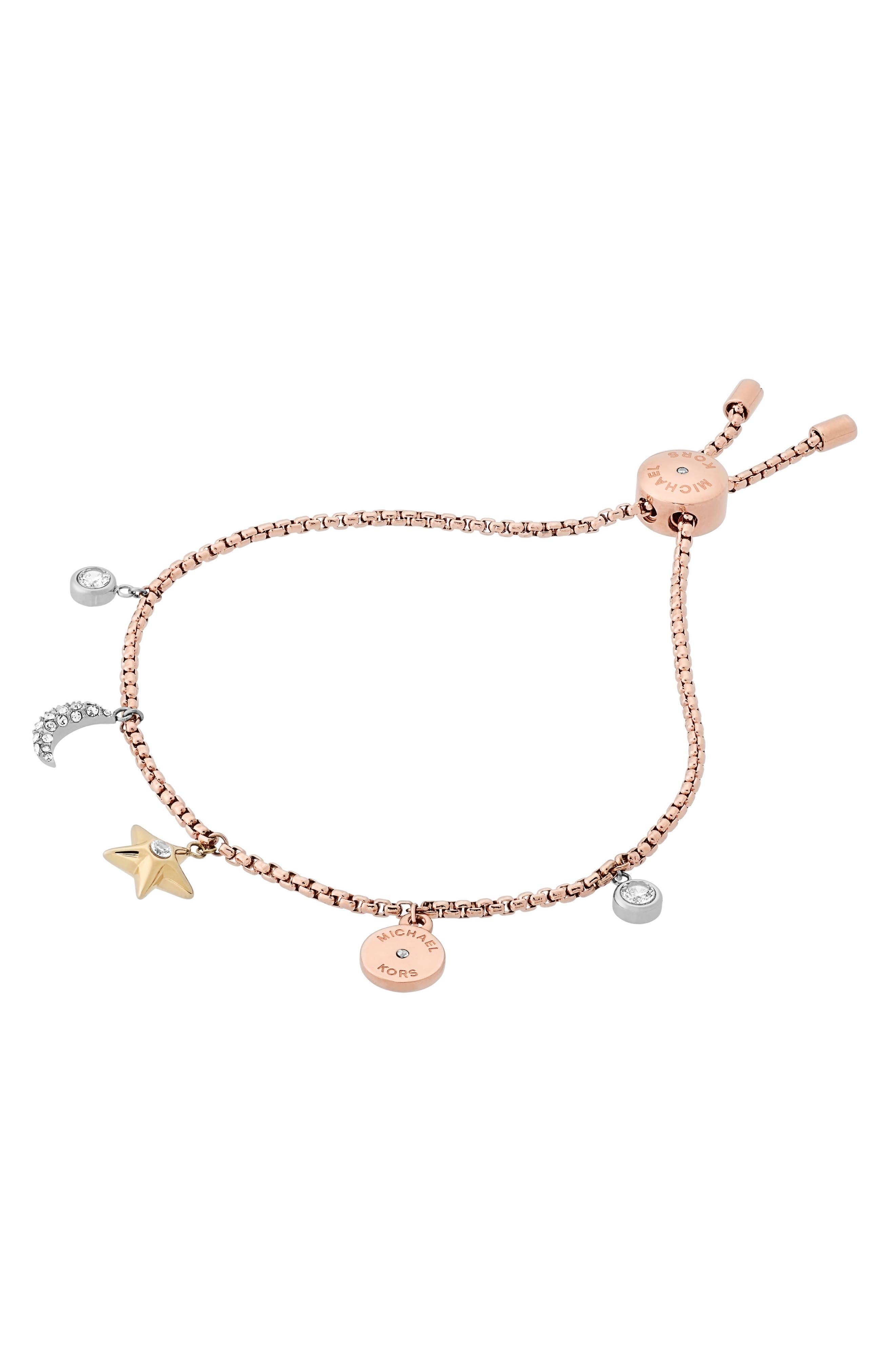 Adjustable Slide Bracelet,                         Main,                         color, Tri-Tone