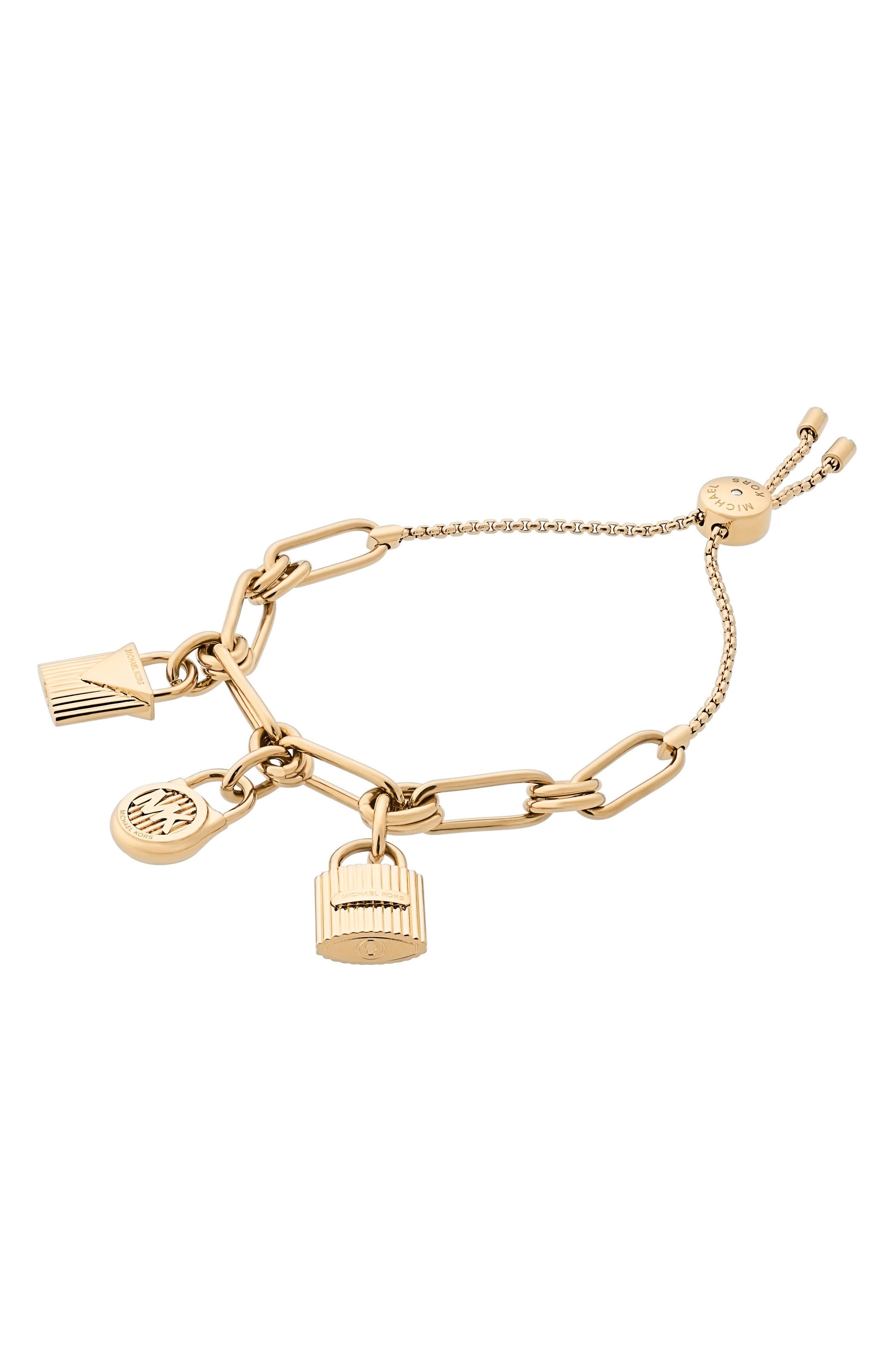 Michael Kors Padlock Charm Slider Bracelet
