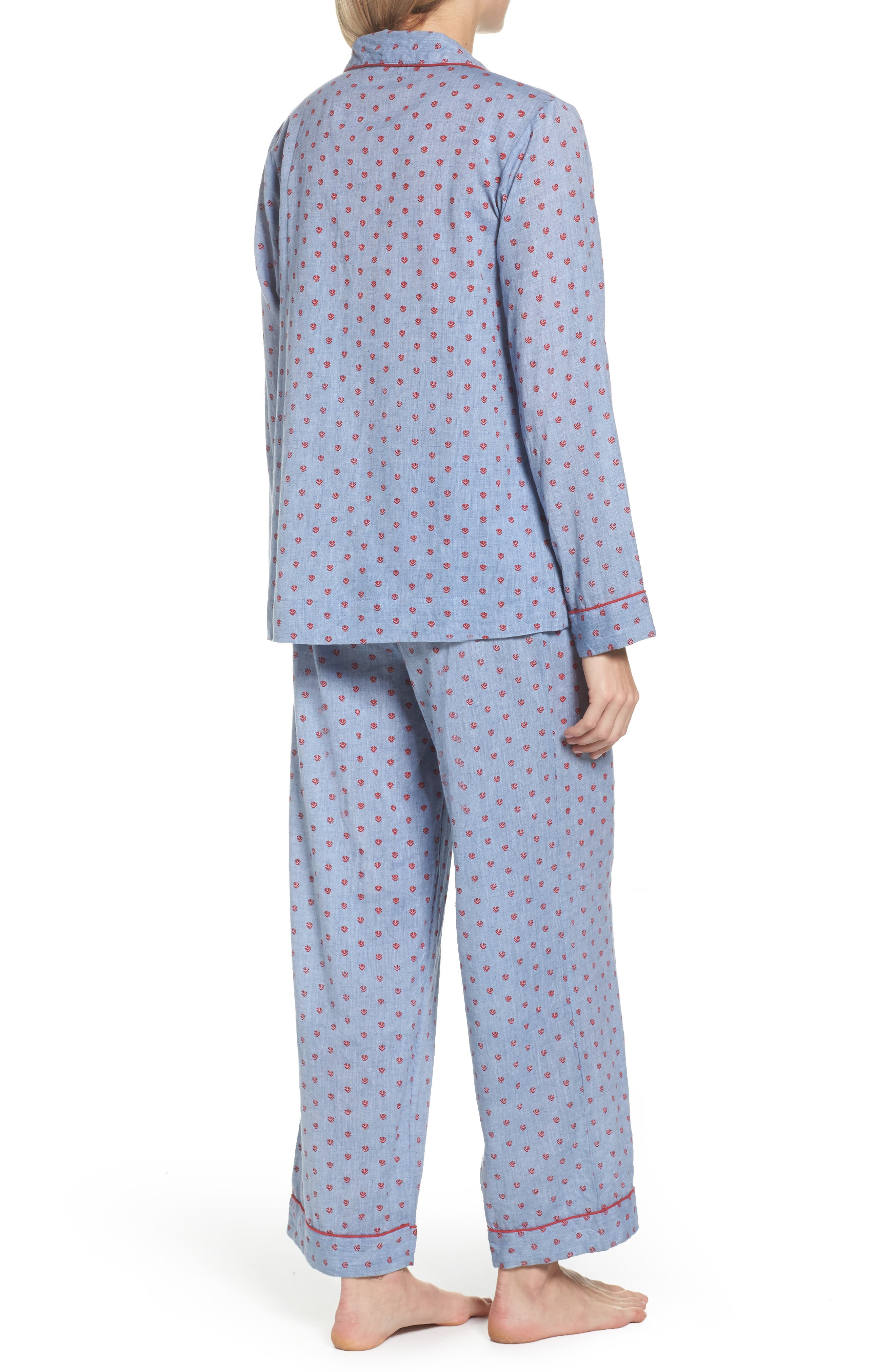 Washed Cotton Pajamas,                             Alternate thumbnail 2, color,                             Rb-Denim