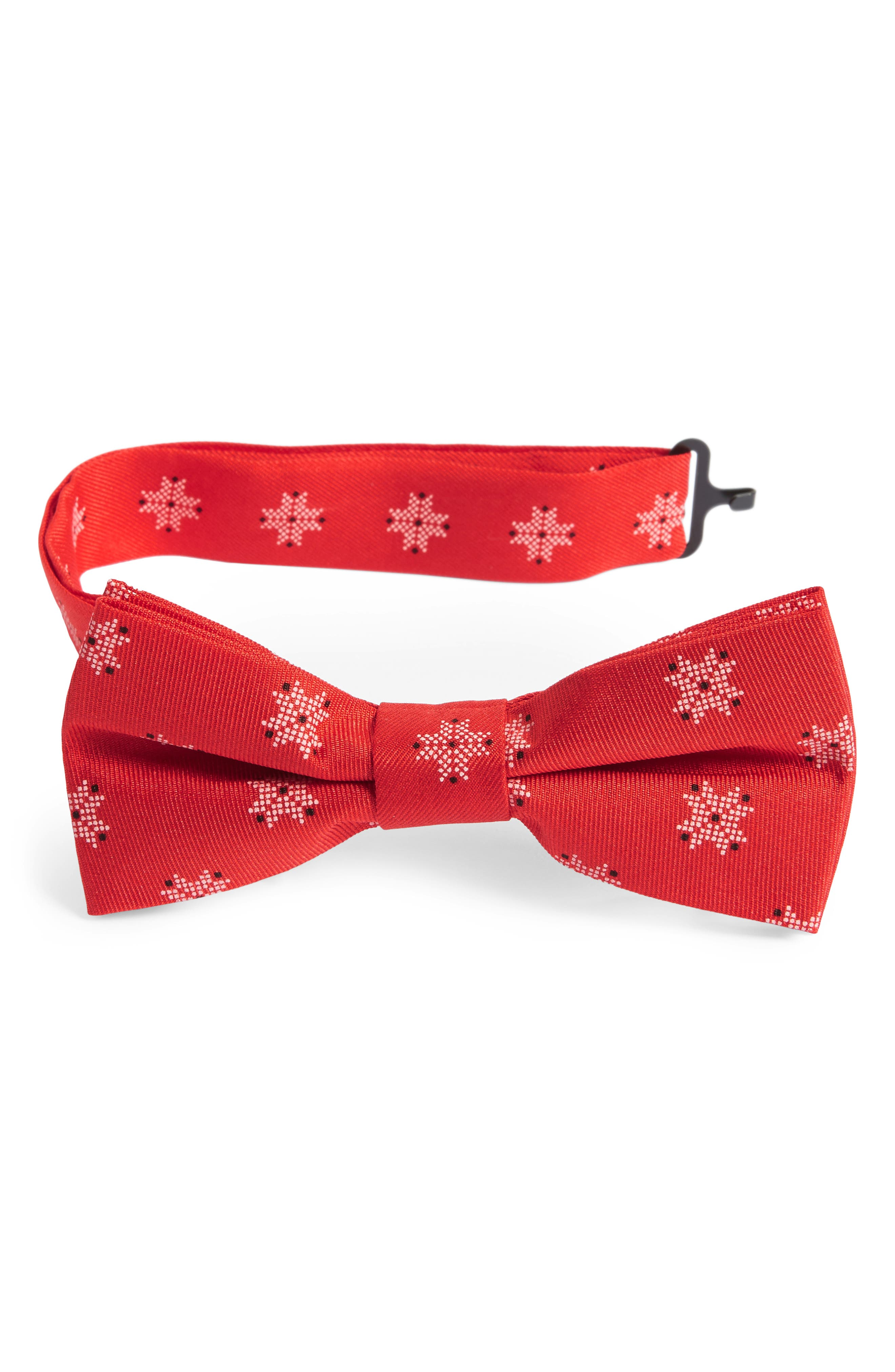 Silk Bow Tie,                             Main thumbnail 1, color,                             Red