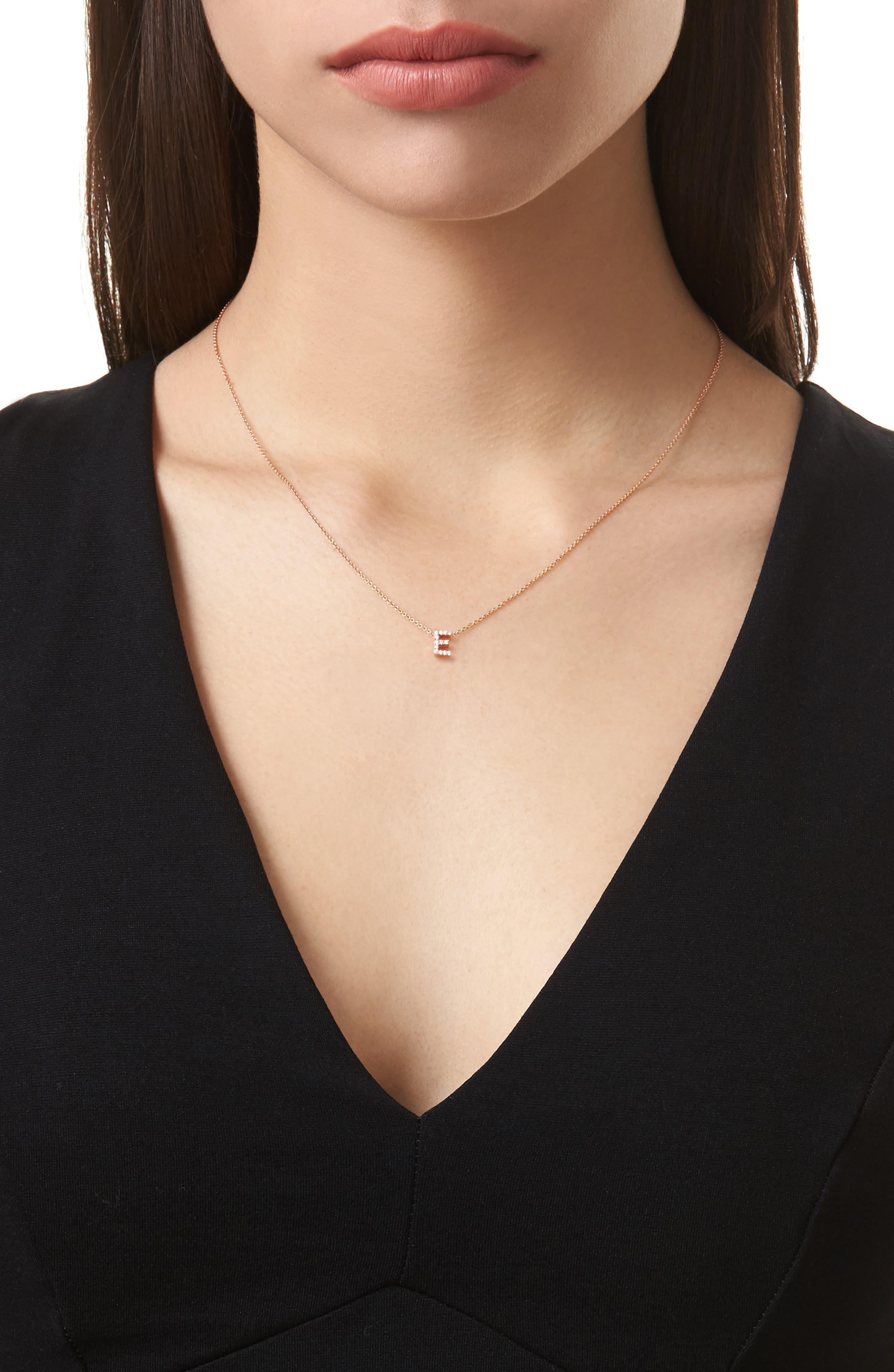 Alternate Image 2  - Bony Levy Pavé Diamond Initial Pendant Necklace (Nordstrom Exclusive)
