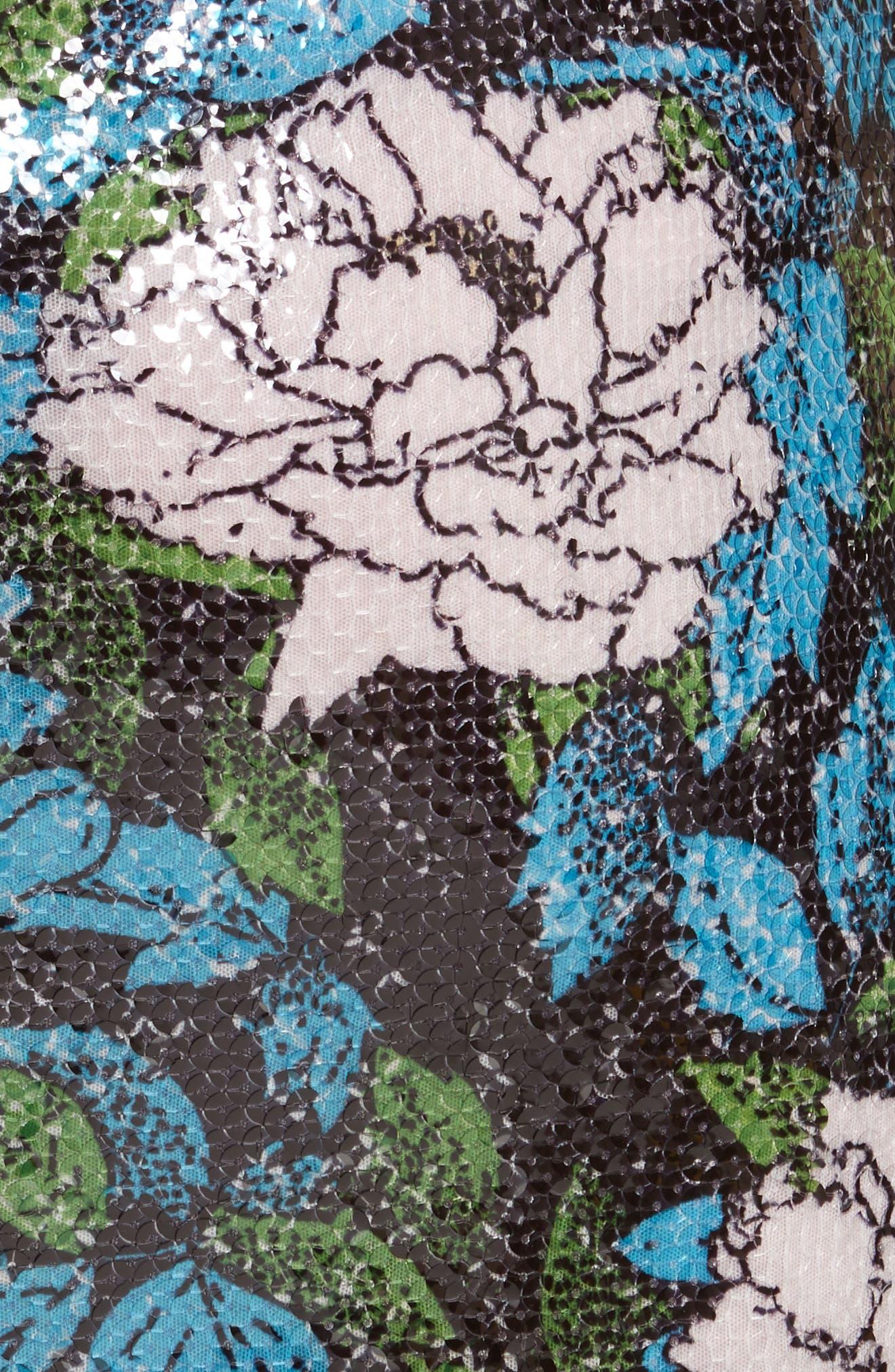 Diane von Furstenberg Sequin Pencil Skirt,                             Alternate thumbnail 5, color,                             Boswell Ivory