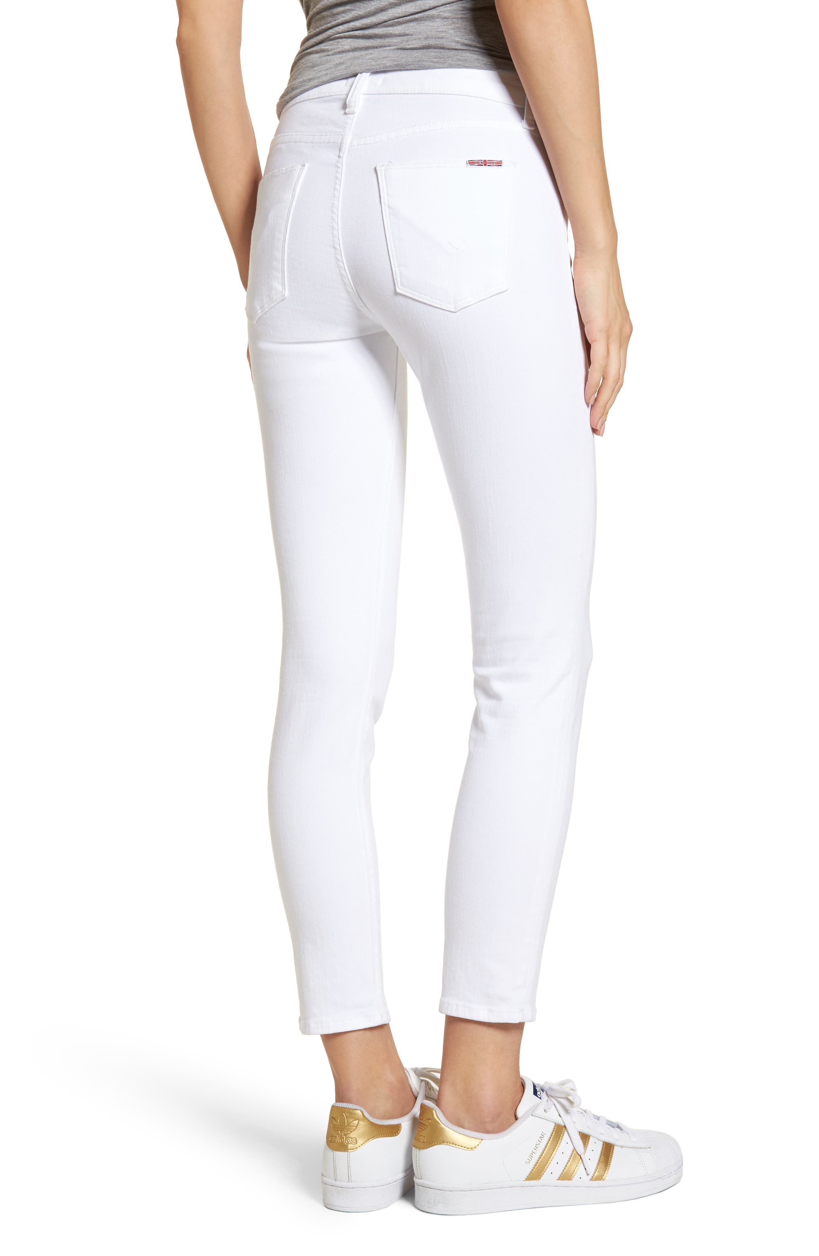 Tally Ankle Skinny Jeans,                             Alternate thumbnail 2, color,                             Optical White