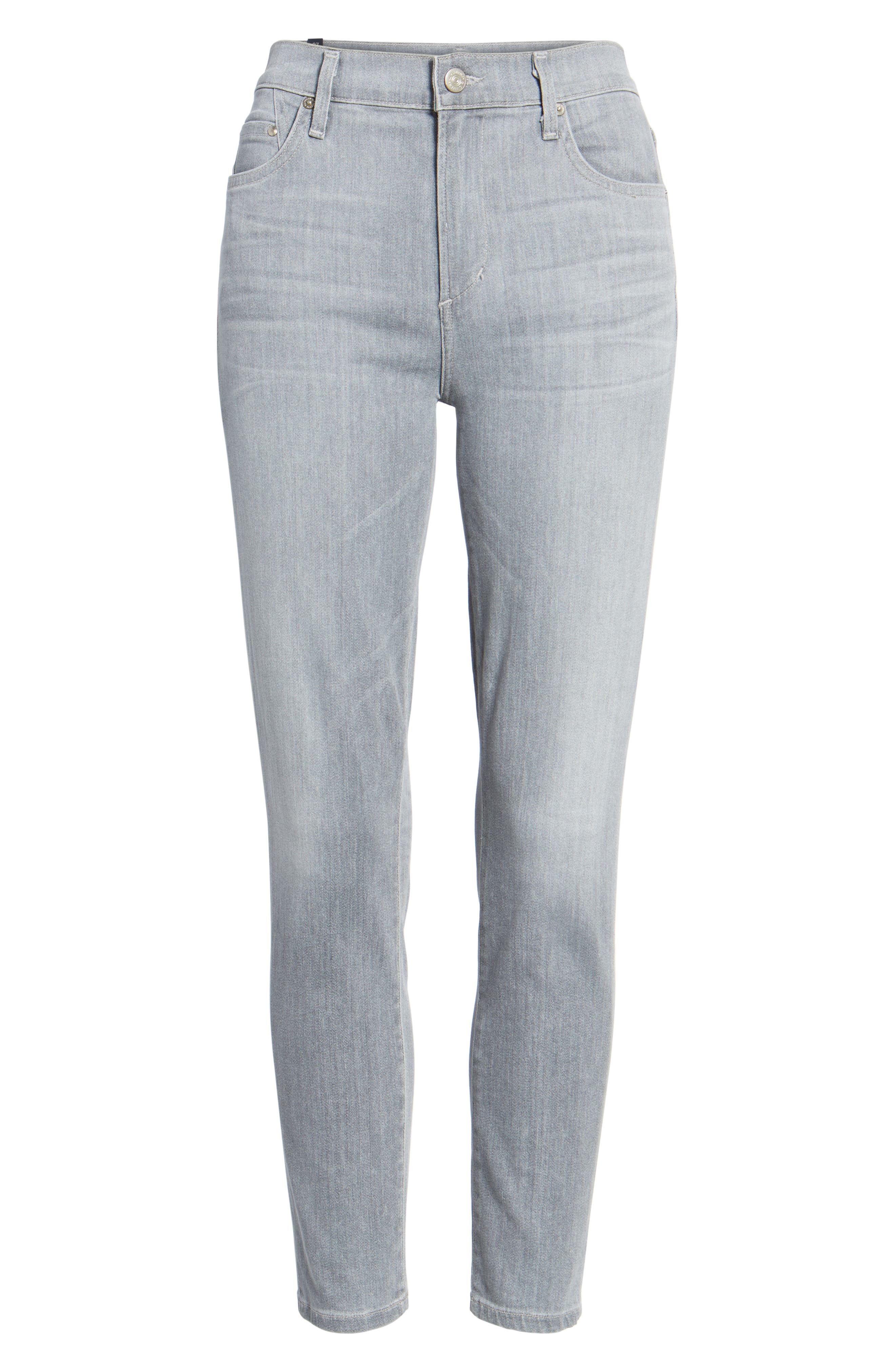 Rocket High Waist Crop Skinny Jeans,                             Alternate thumbnail 7, color,                             Rapture