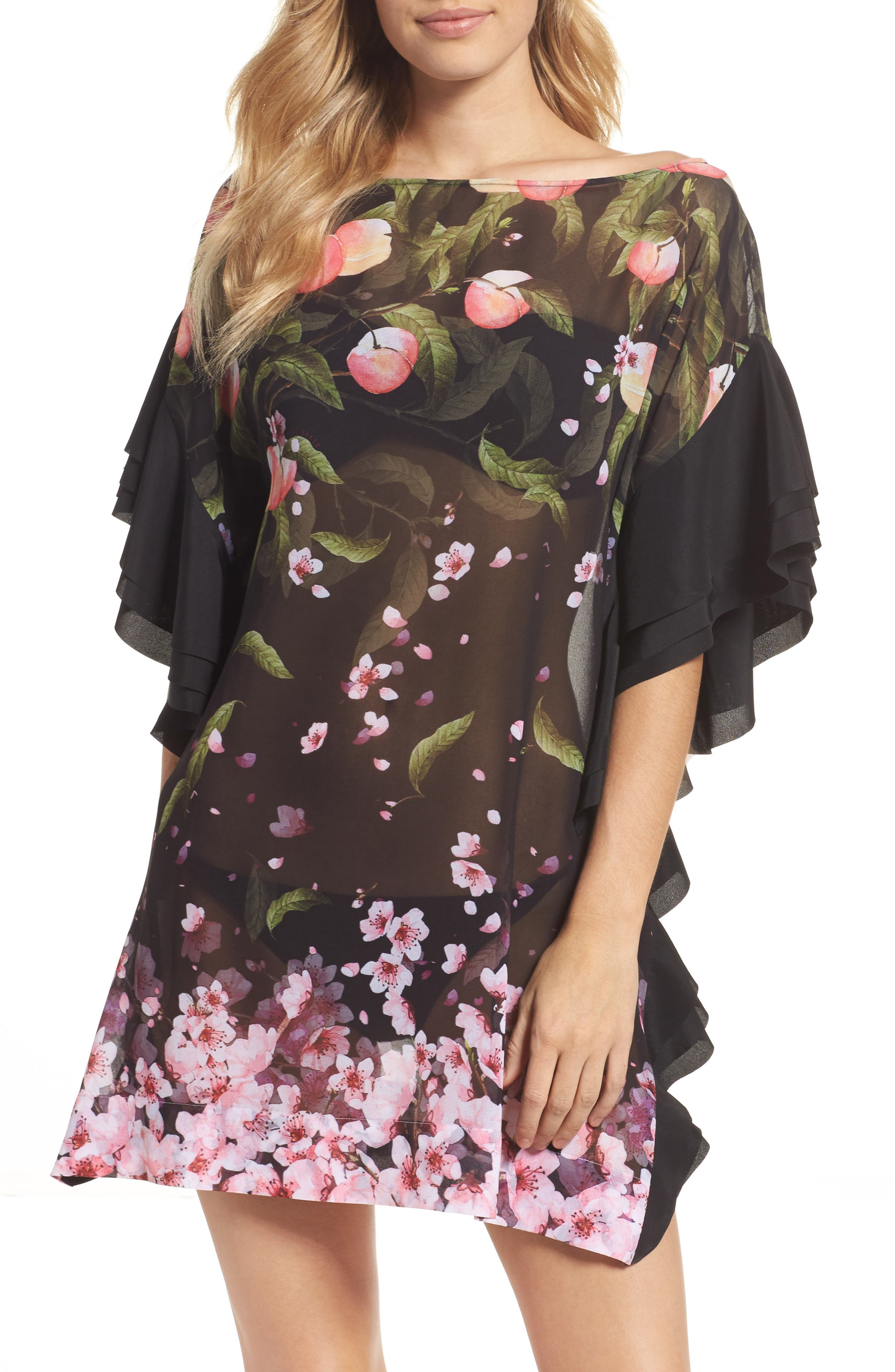 Ted Baker London Peach Blossom Cover-Up Tunic