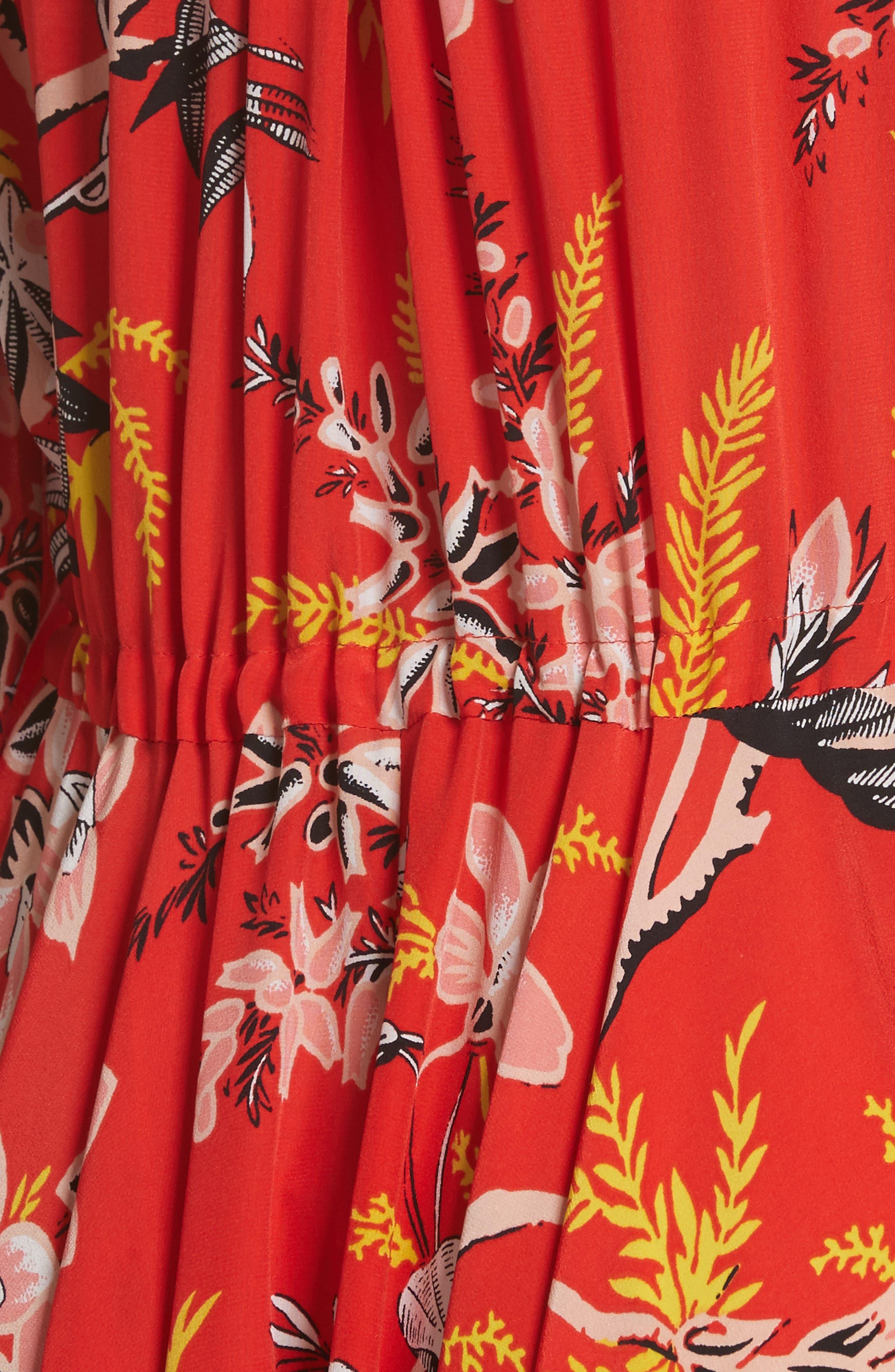 Diane von Furstenberg Floral Silk Maxi Dress,                             Alternate thumbnail 7, color,                             Avalon Poppy