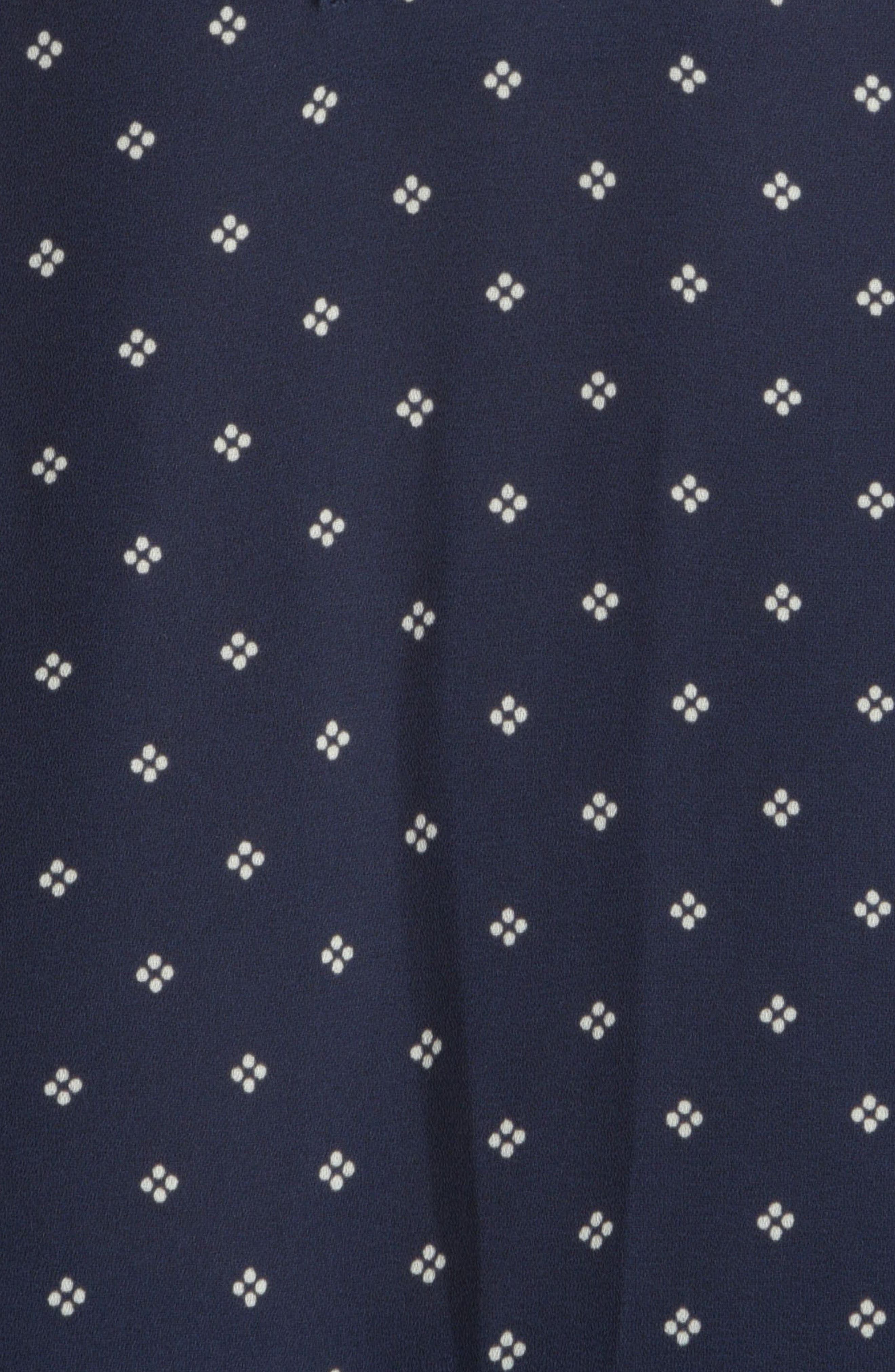 Split Collar Peasant Top,                             Alternate thumbnail 3, color,                             Arabesque Dots