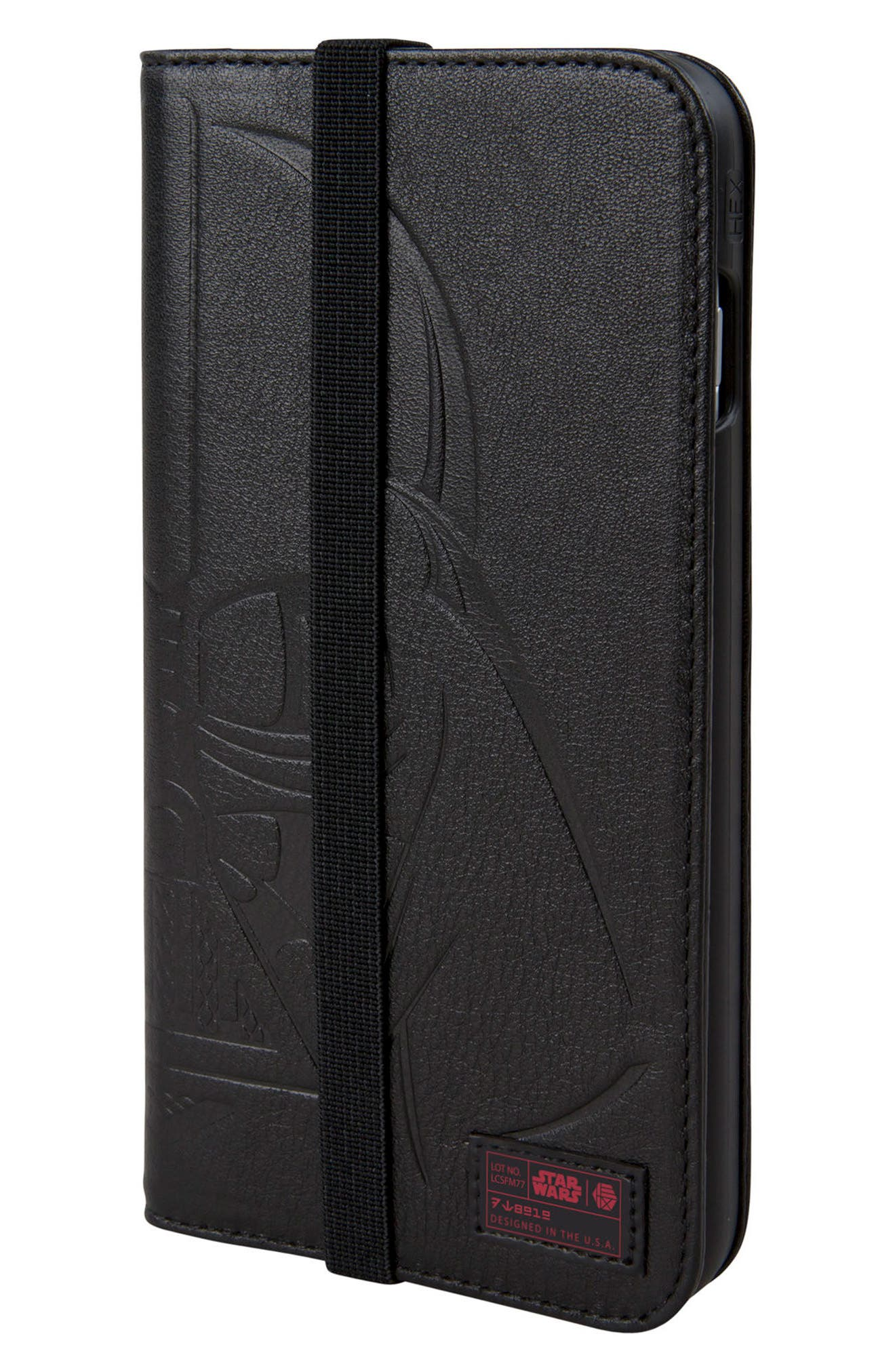 Darth Vader iPhone 8 Plus Wallet Case,                             Main thumbnail 1, color,                             Black