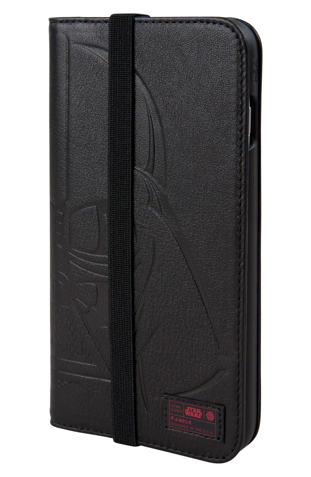 Main Image - HEX Darth Vader iPhone 8 Plus Wallet Case
