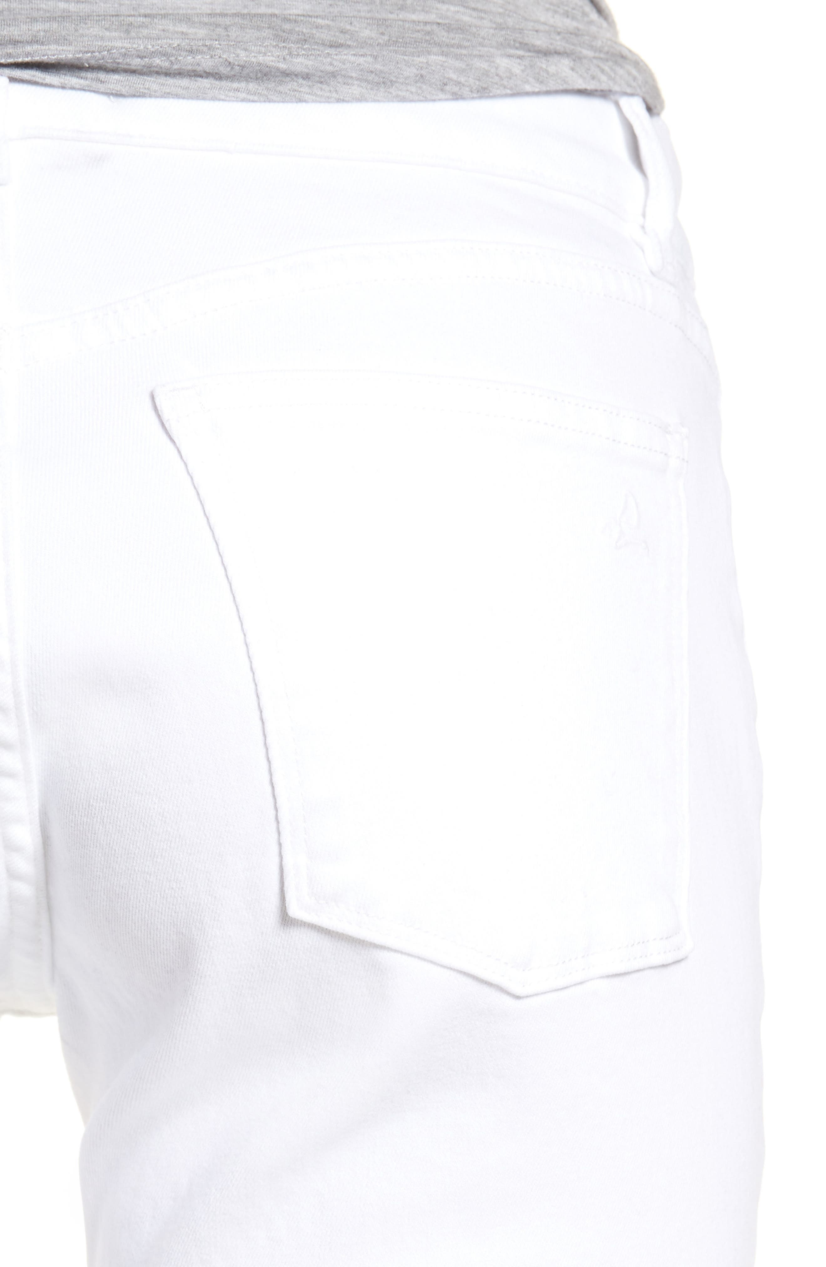 Alternate Image 4  - DL1961 Florence Skinny Jeans (Porcelain)