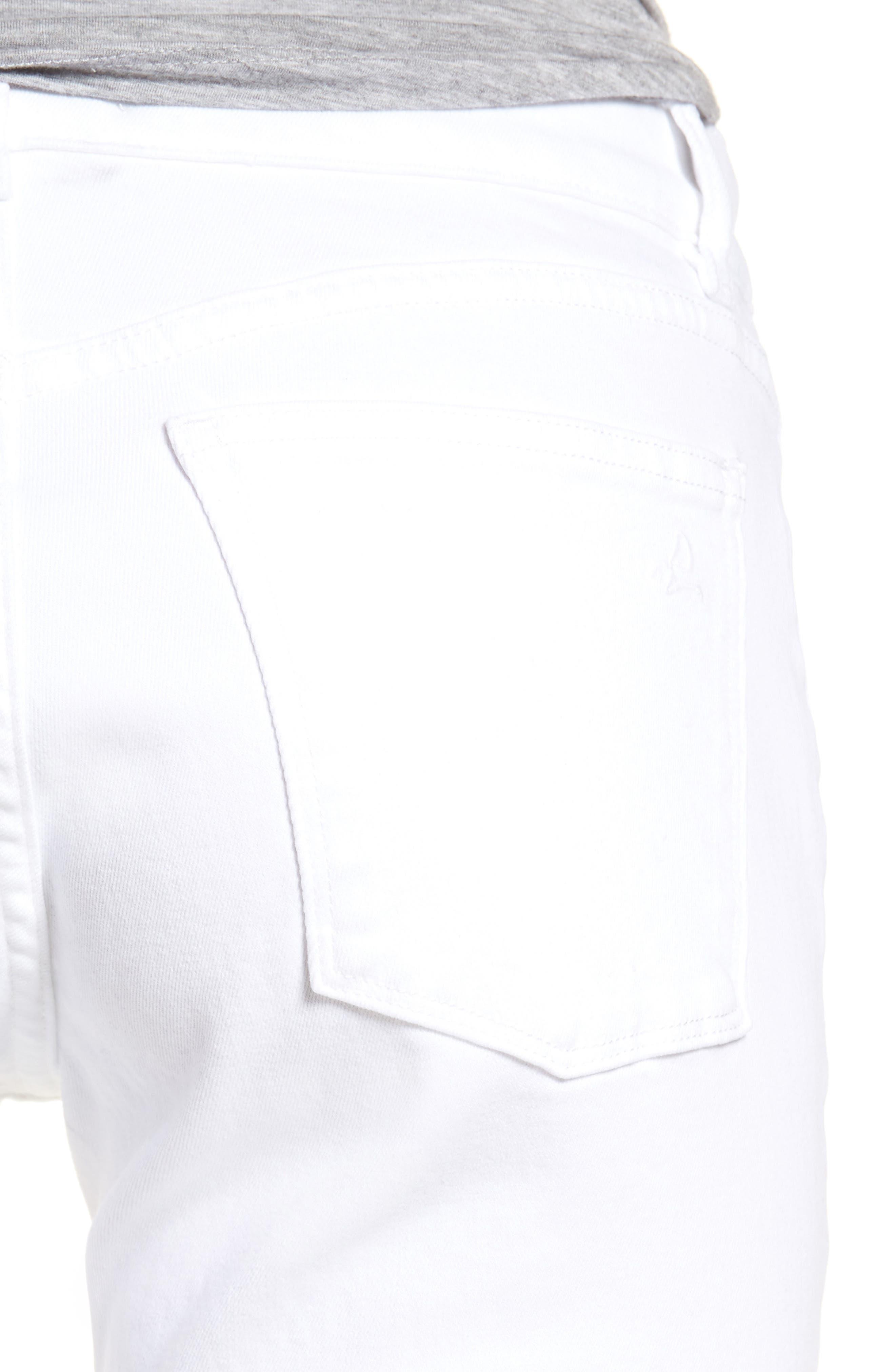 Florence Skinny Jeans,                             Alternate thumbnail 4, color,                             Porcelain