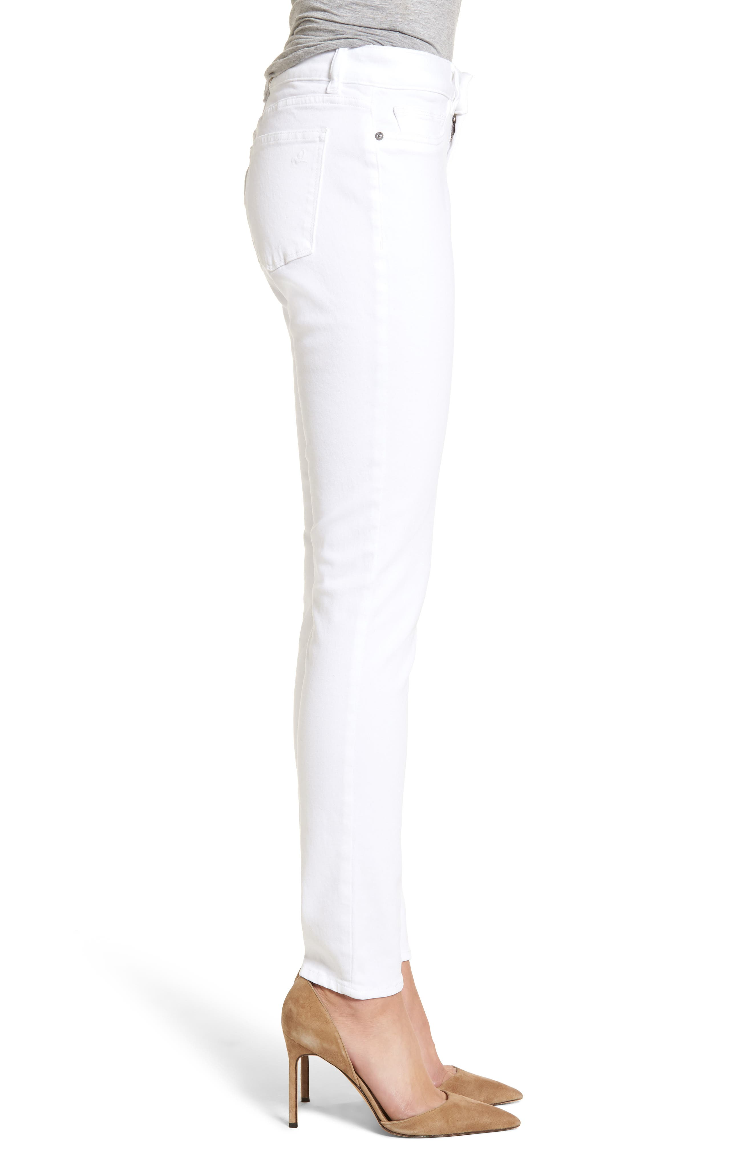 Florence Skinny Jeans,                             Alternate thumbnail 3, color,                             Porcelain