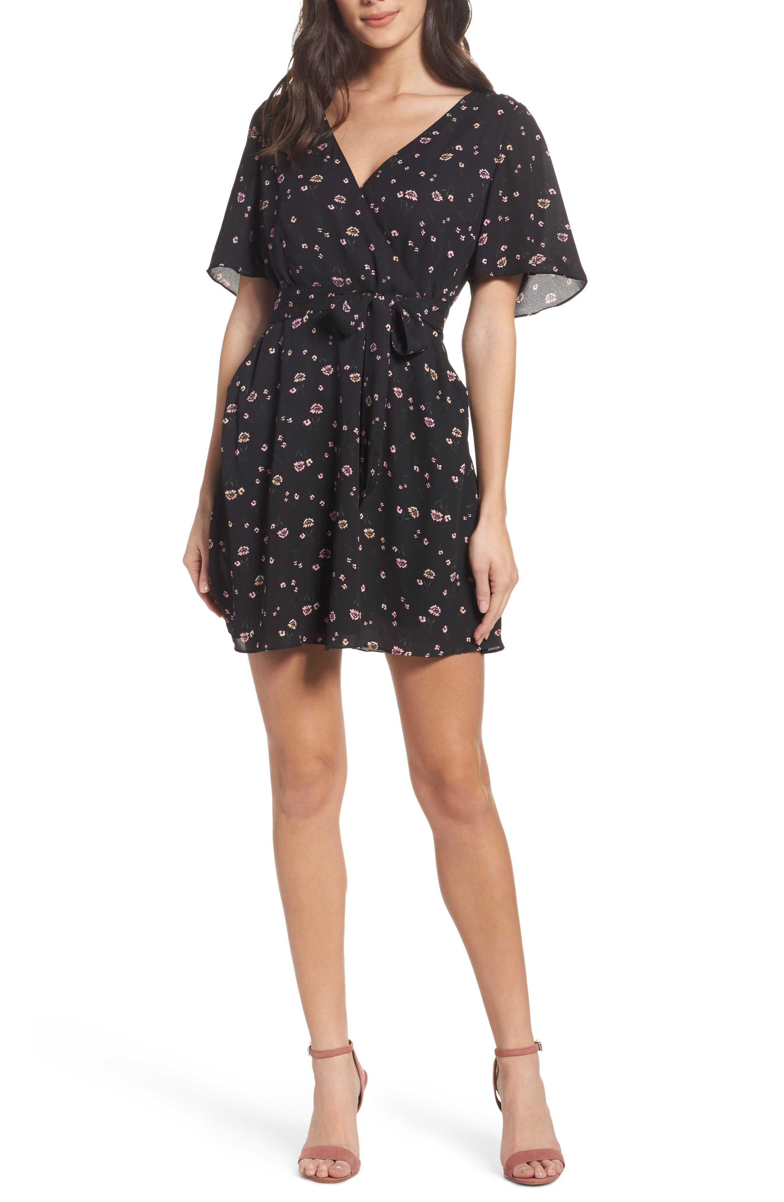 Lettie Dress,                         Main,                         color, Black