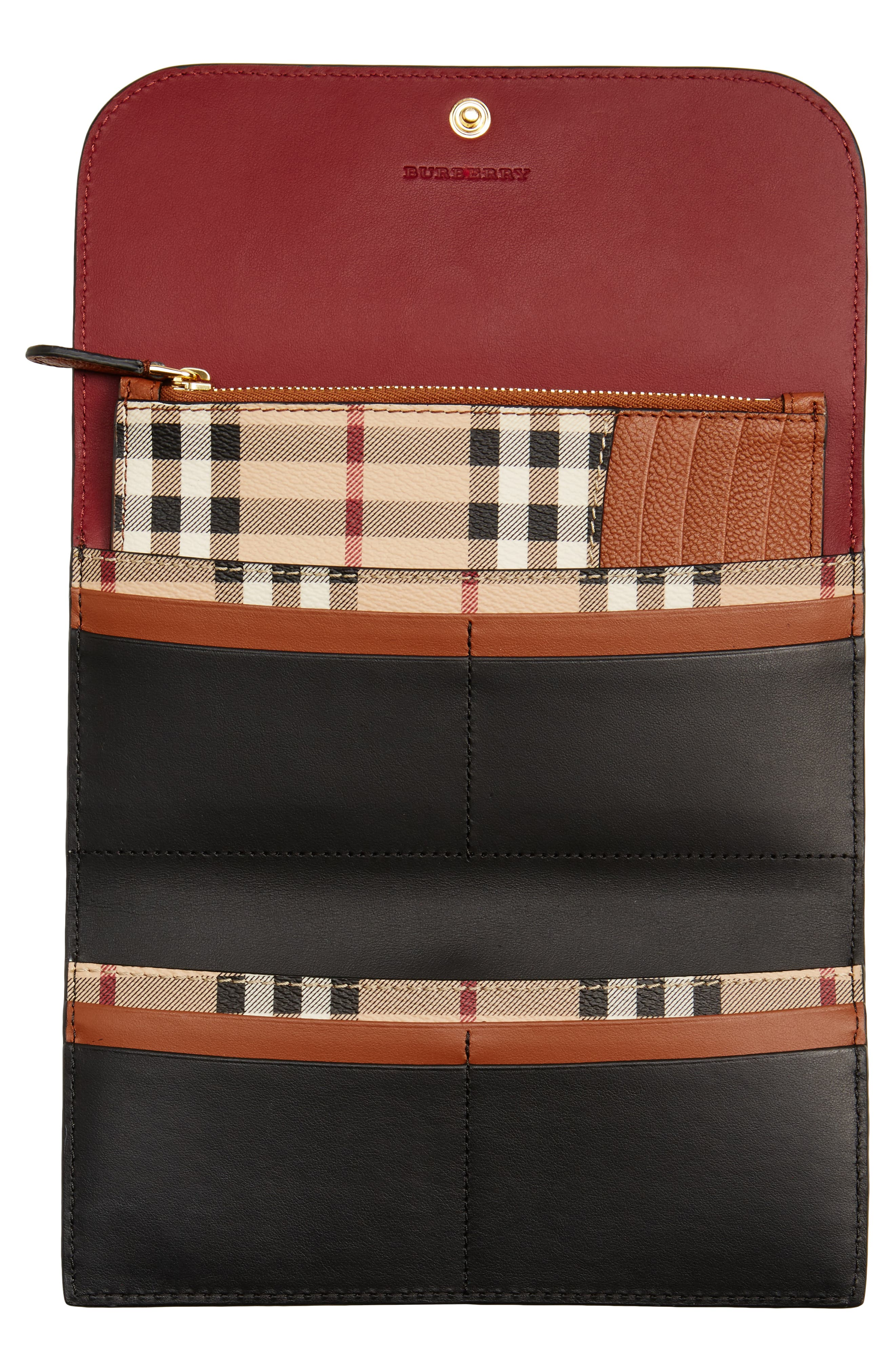 Alternate Image 2  - Burberry Kenton Leather Flap Wallet with Removable Check Card Case