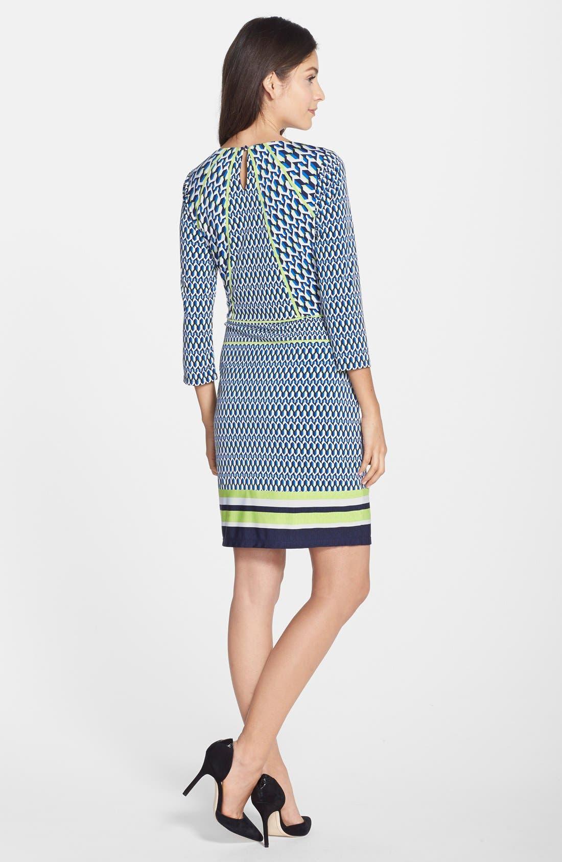 Alternate Image 2  - Laundry by Shelli Segal Print Jersey Sheath Dress (Regular & Petite)