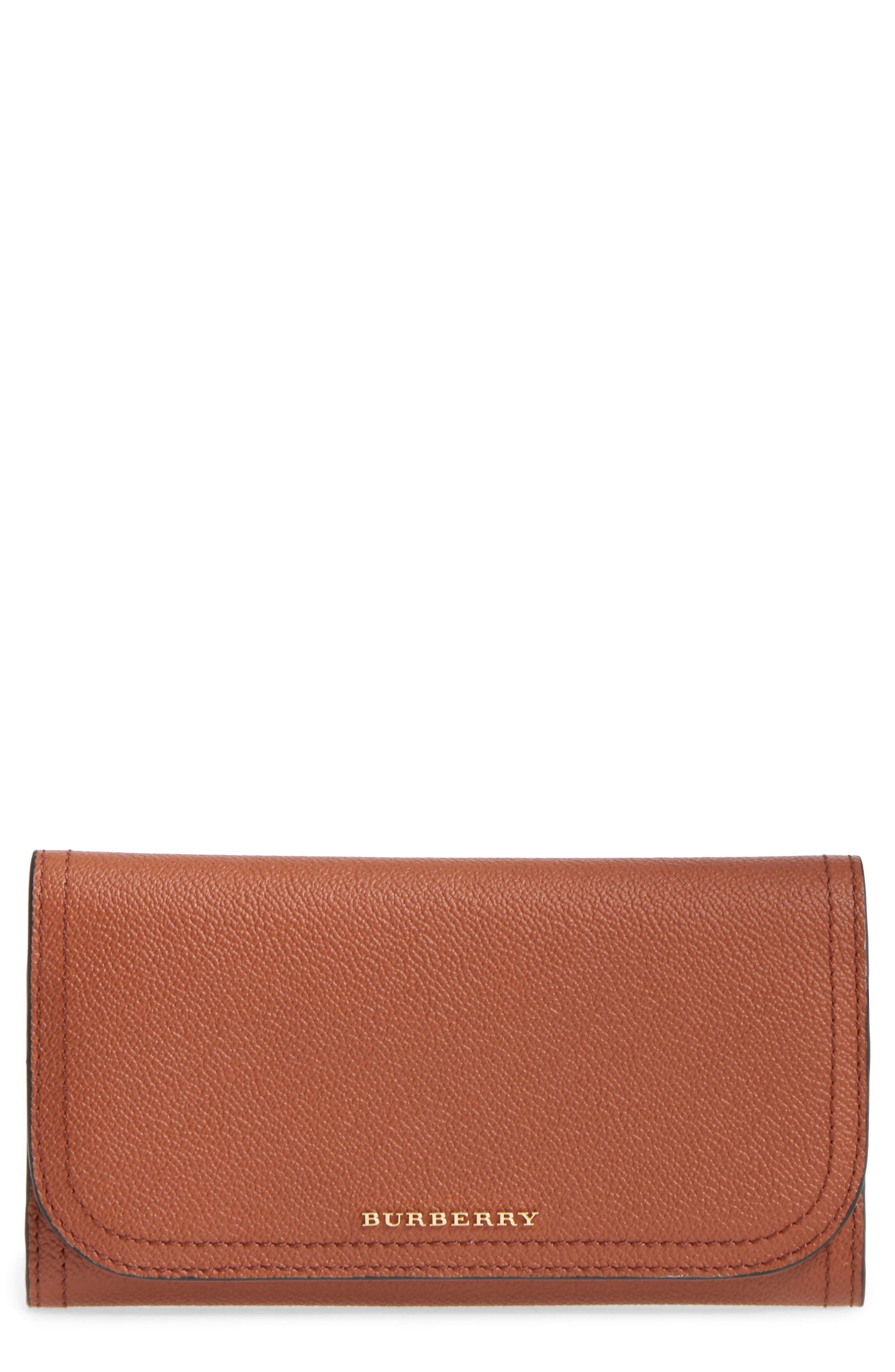 Alternate Image 1 Selected - Burberry Kenton Leather Flap Wallet with Removable Check Card Case