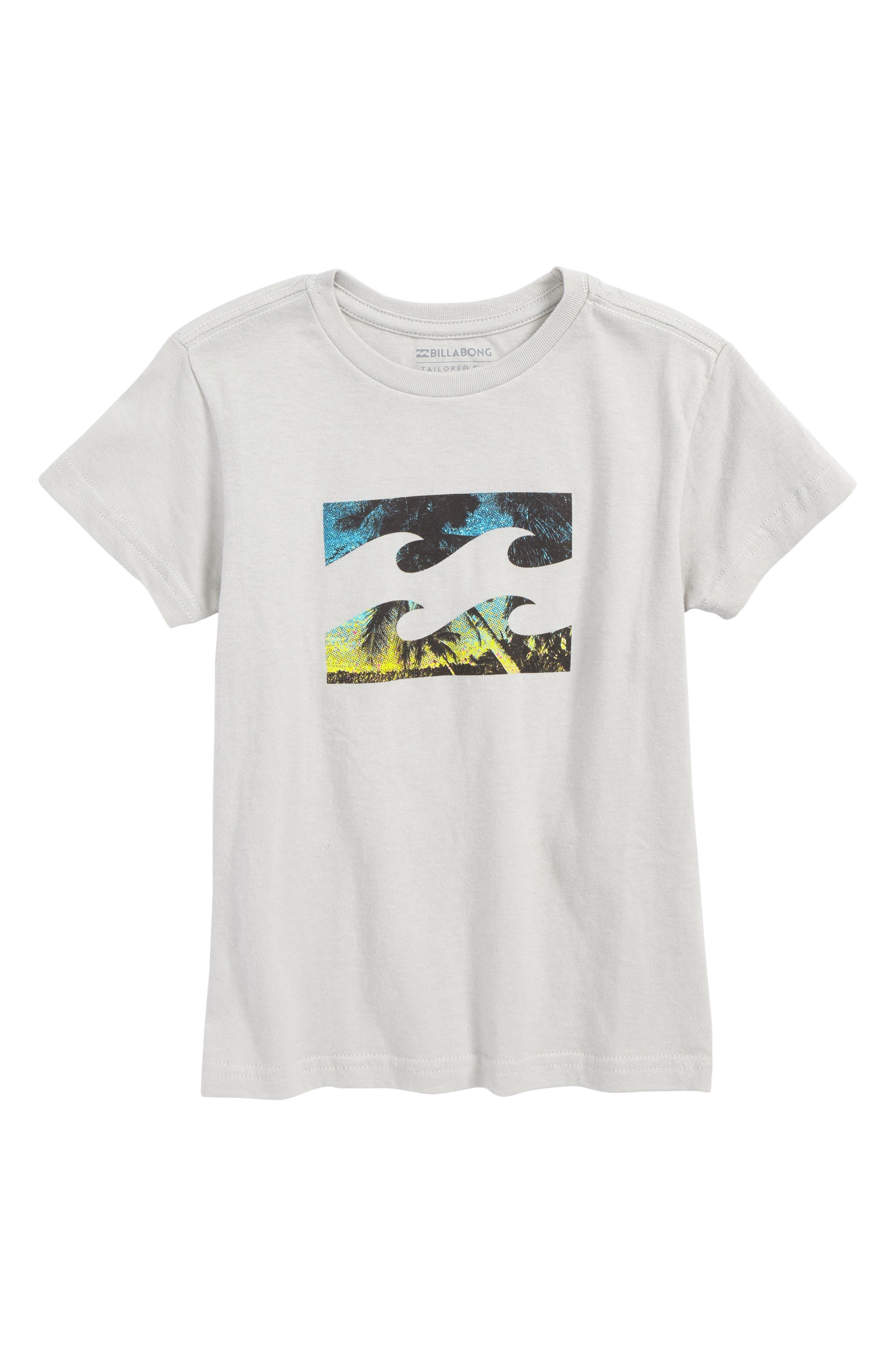Team Wave Graphic T-Shirt,                             Main thumbnail 1, color,                             Silver