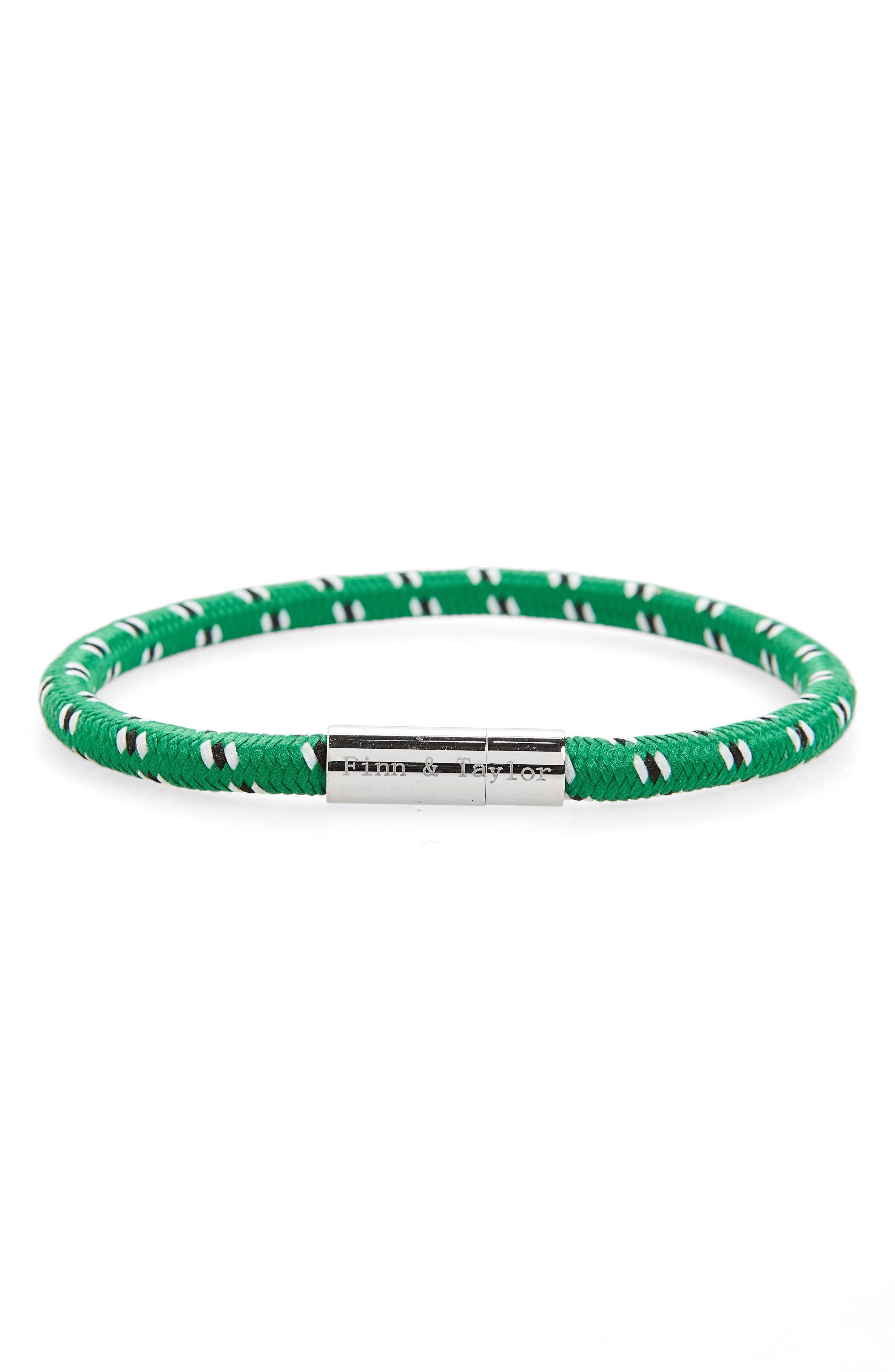Finn & Taylor Elastic Bracelet,                             Main thumbnail 1, color,                             Green