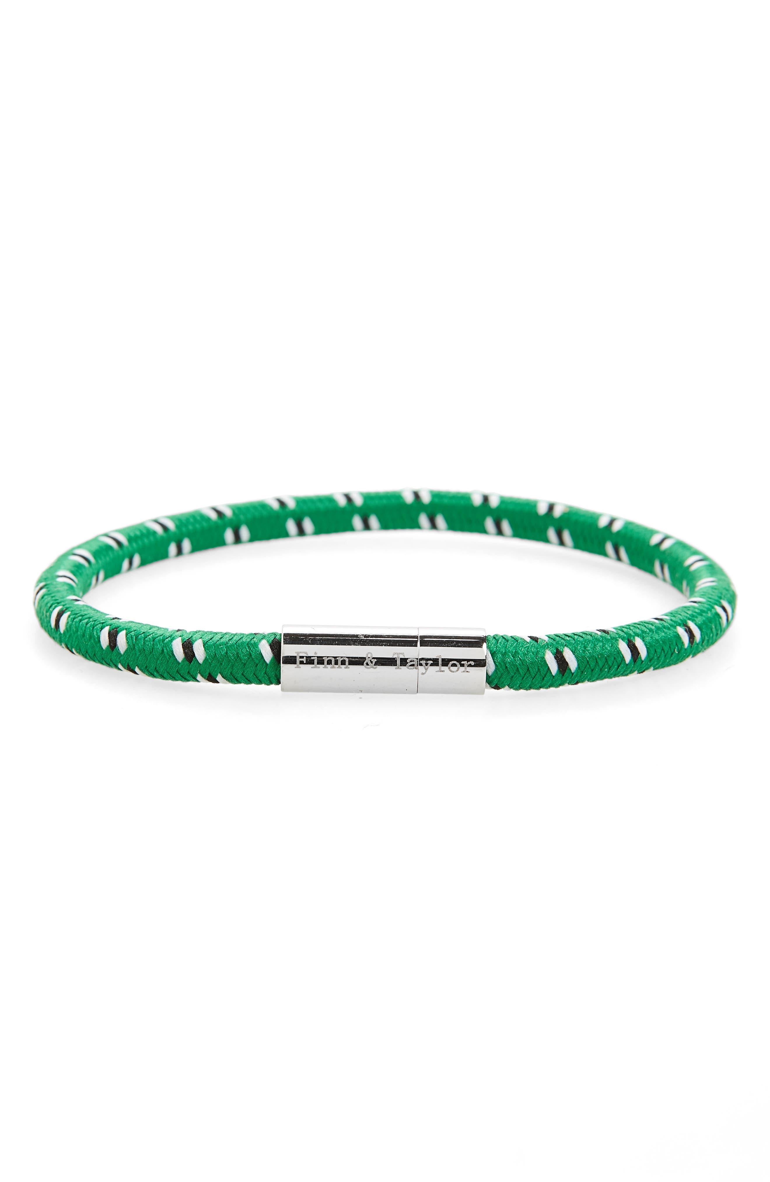 Finn & Taylor Elastic Bracelet,                         Main,                         color, Green