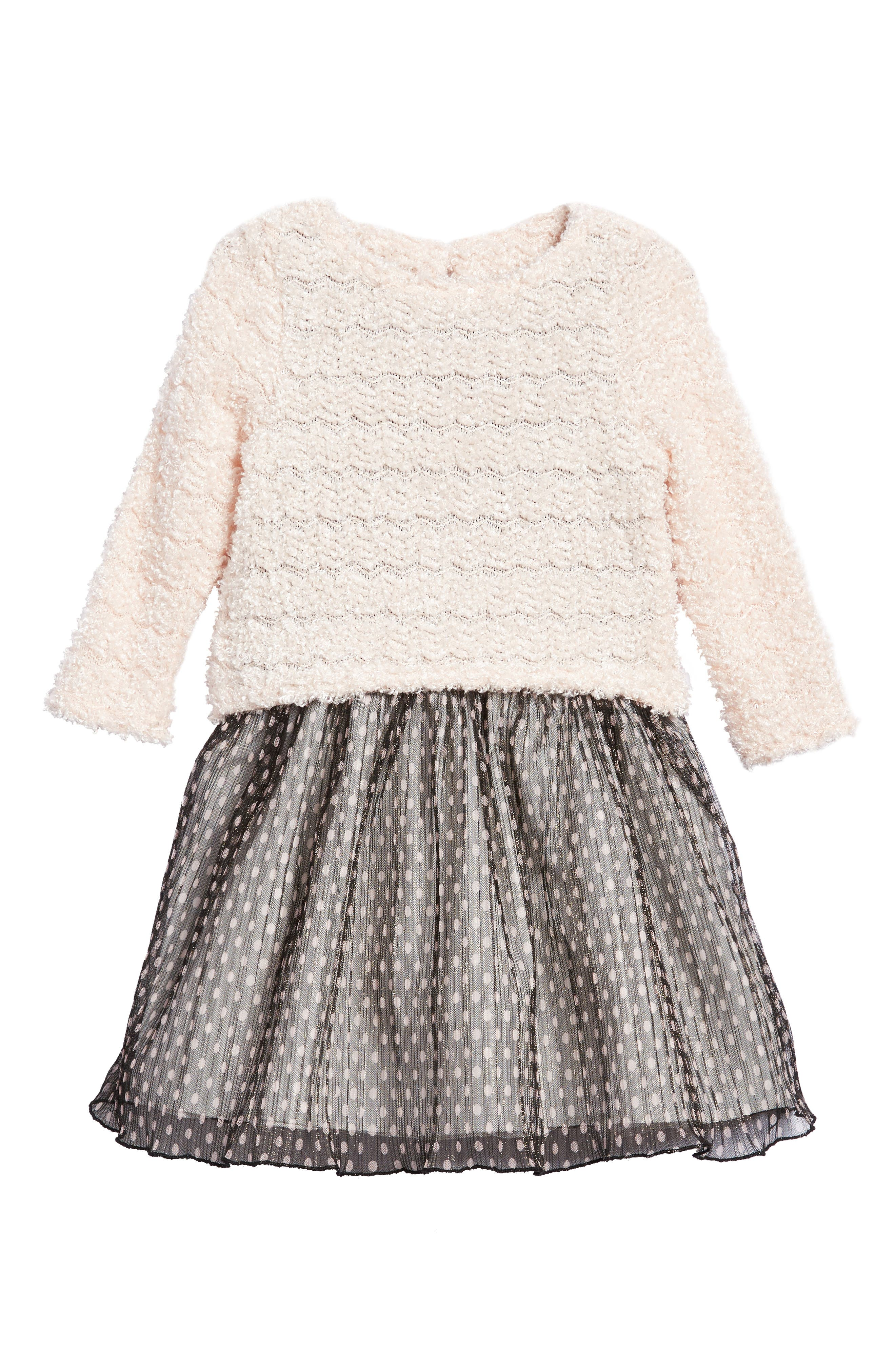 Sweater & Dress Set,                         Main,                         color, Pink