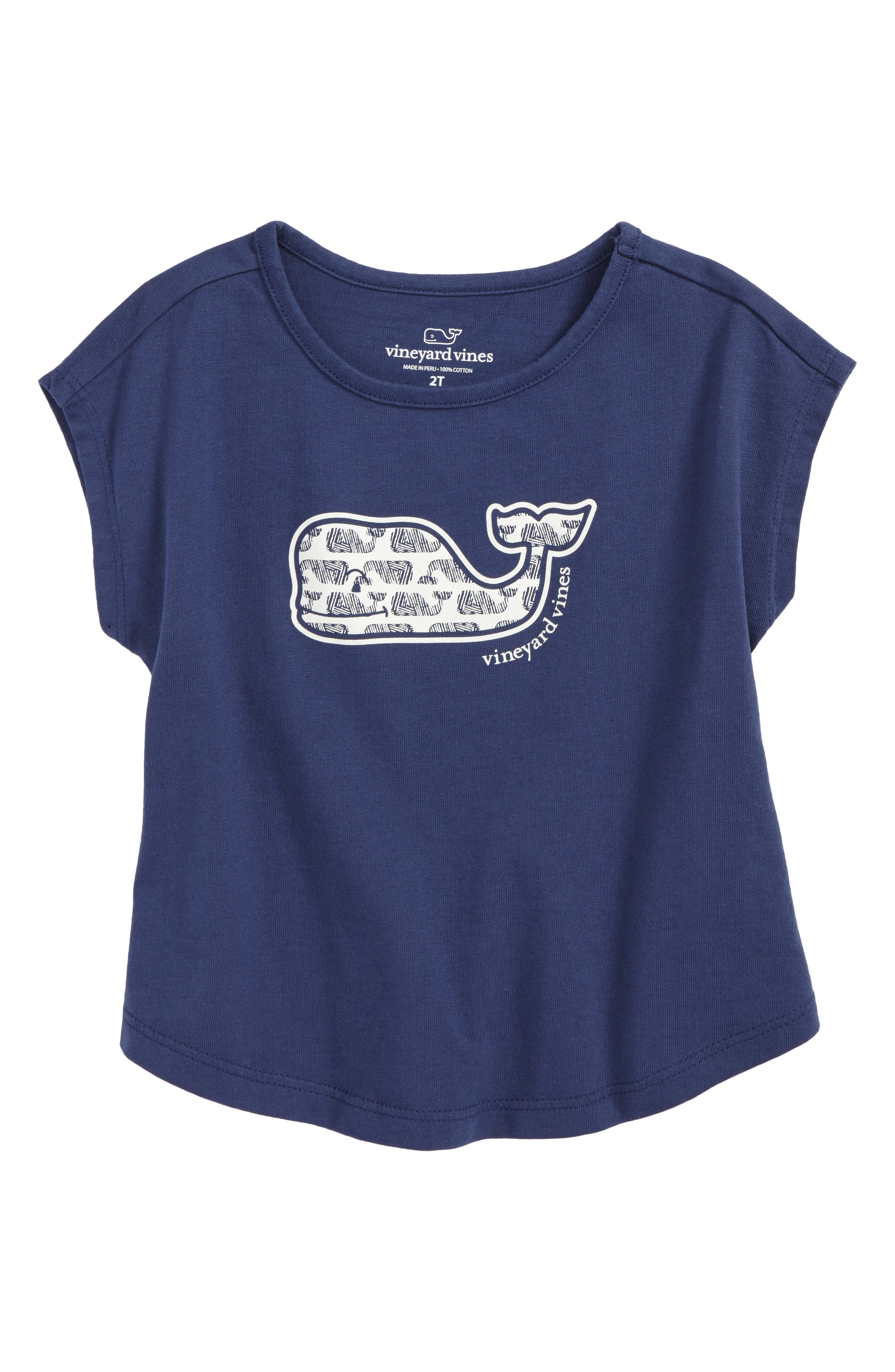 vineyard vines Etched Whale Swing Tee (Toddler Girls)