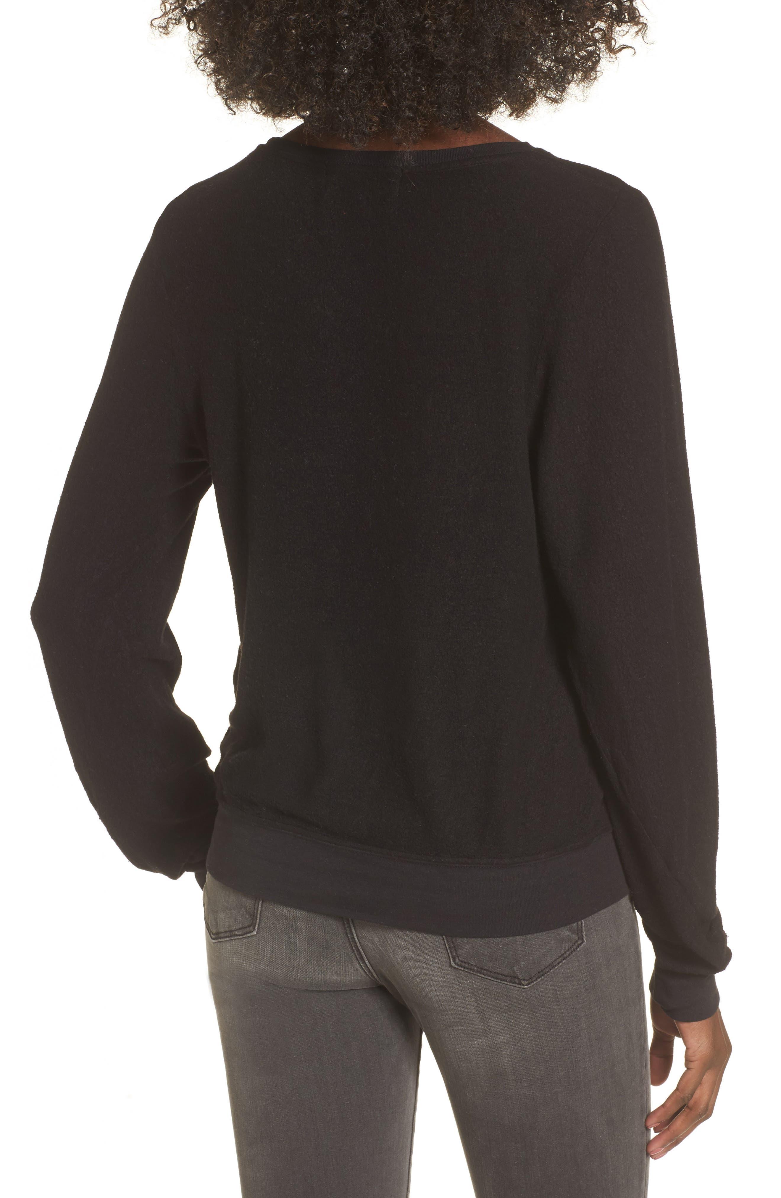 Sweatshirt,                             Alternate thumbnail 2, color,                             Jet Black