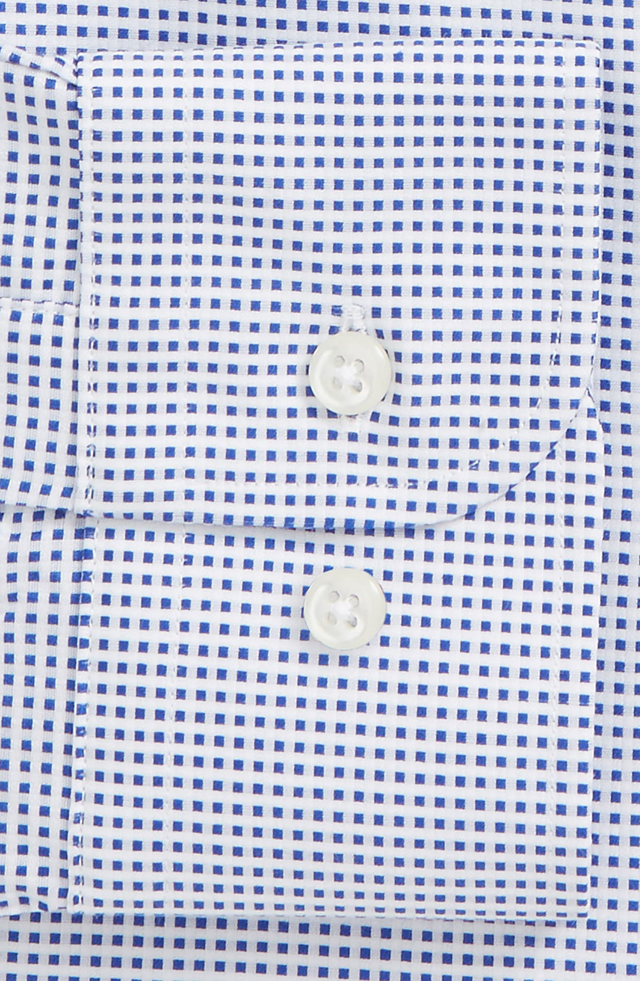 Traditional Fit Microcheck Dress Shirt,                             Alternate thumbnail 5, color,                             Blue Surf