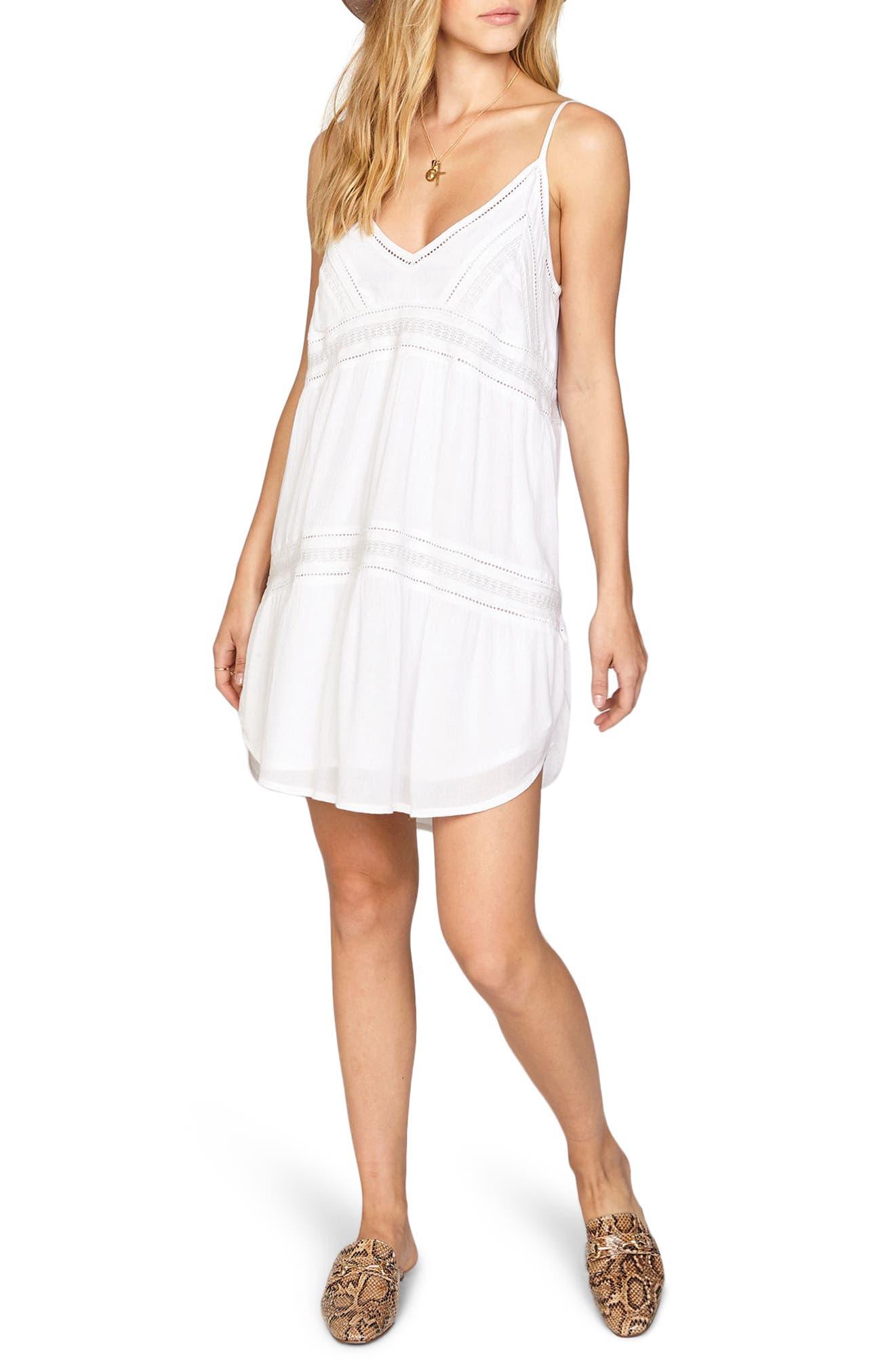 Summer Light Dress,                         Main,                         color, White