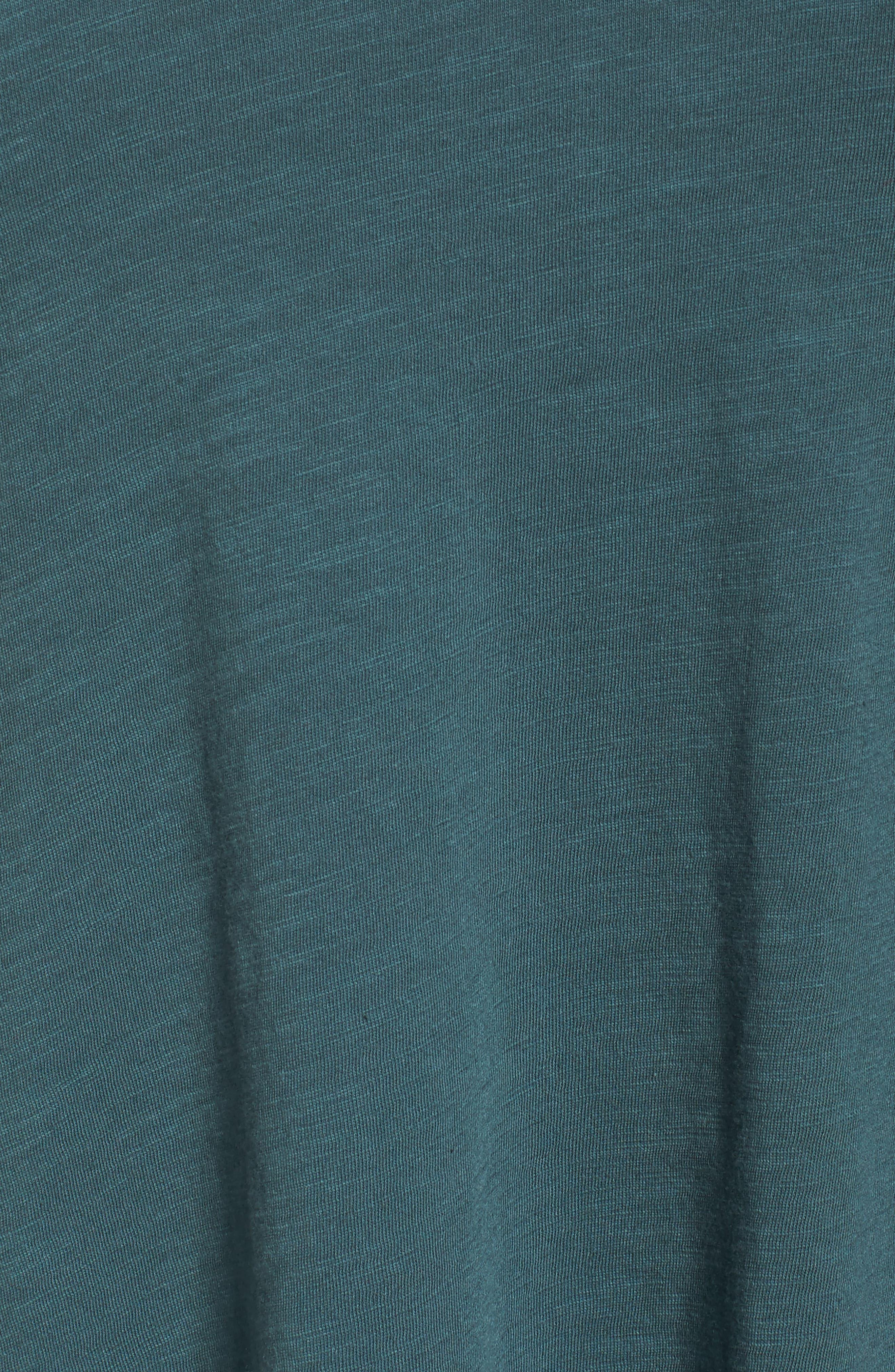 Organic Cotton V-Neck Top,                             Alternate thumbnail 5, color,                             Dragonfly