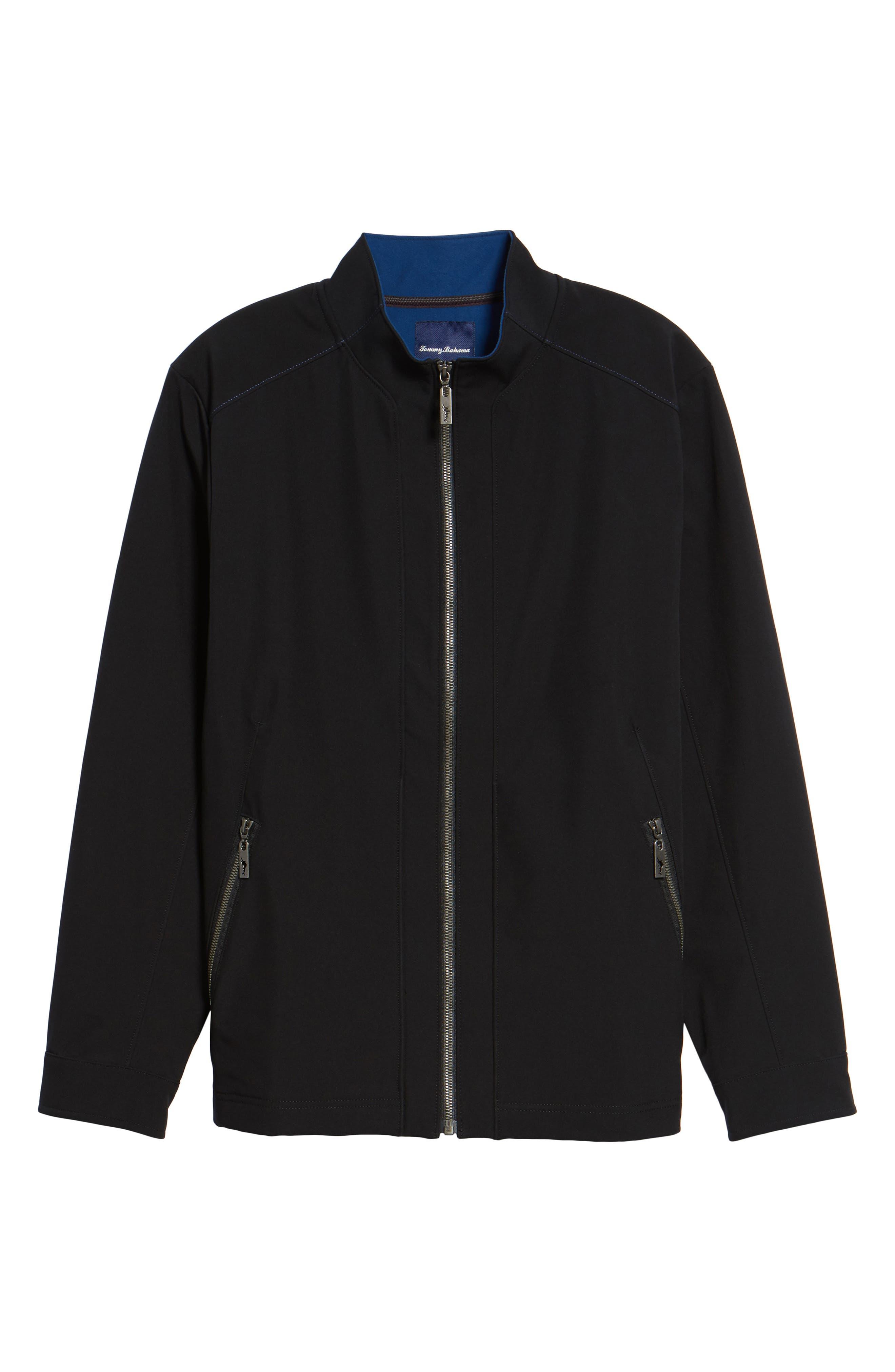 Downswing Zip Jacket,                             Alternate thumbnail 6, color,                             Black