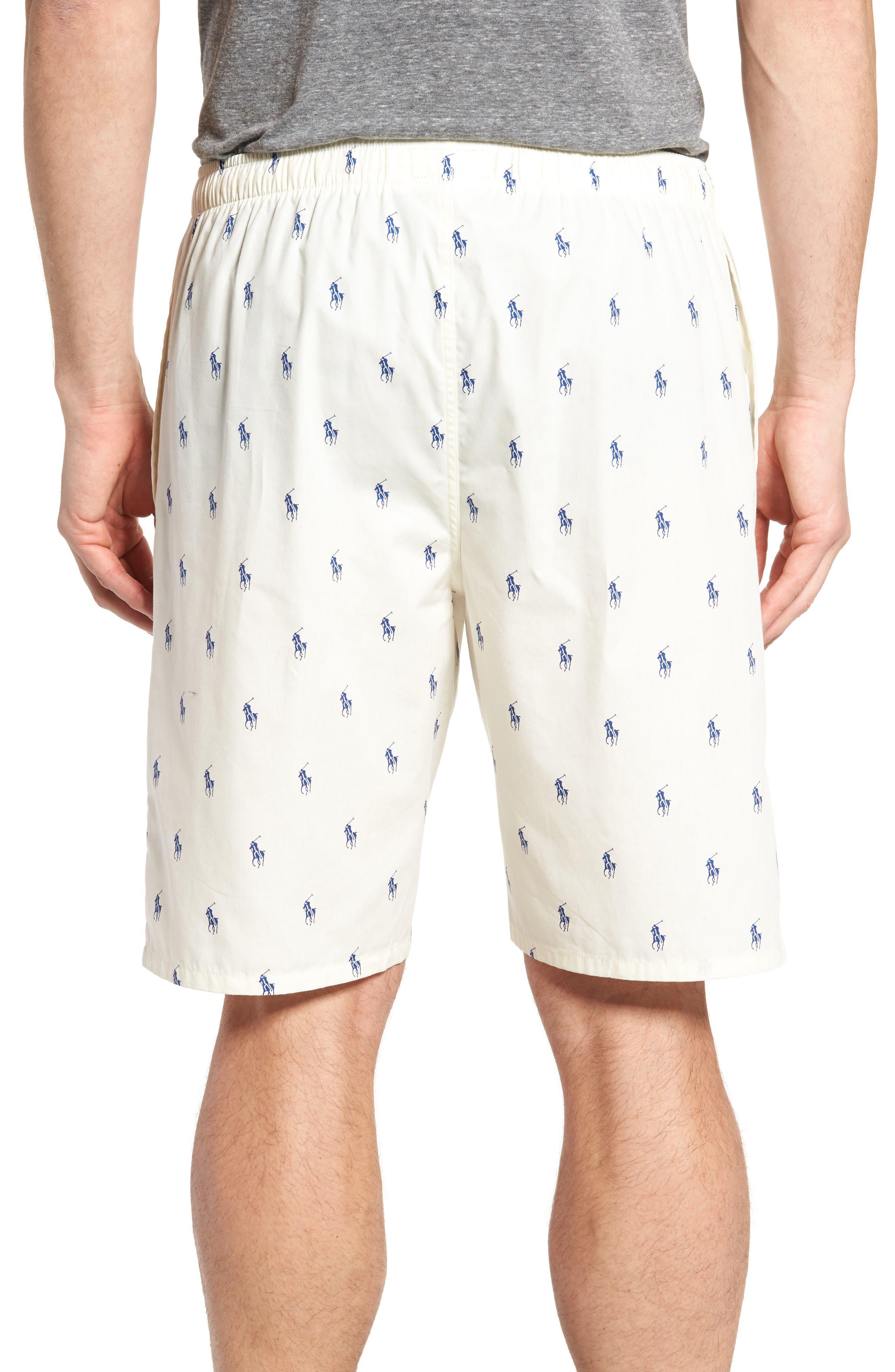 Alternate Image 2  - Ralph Lauren Woven Pajama Shorts