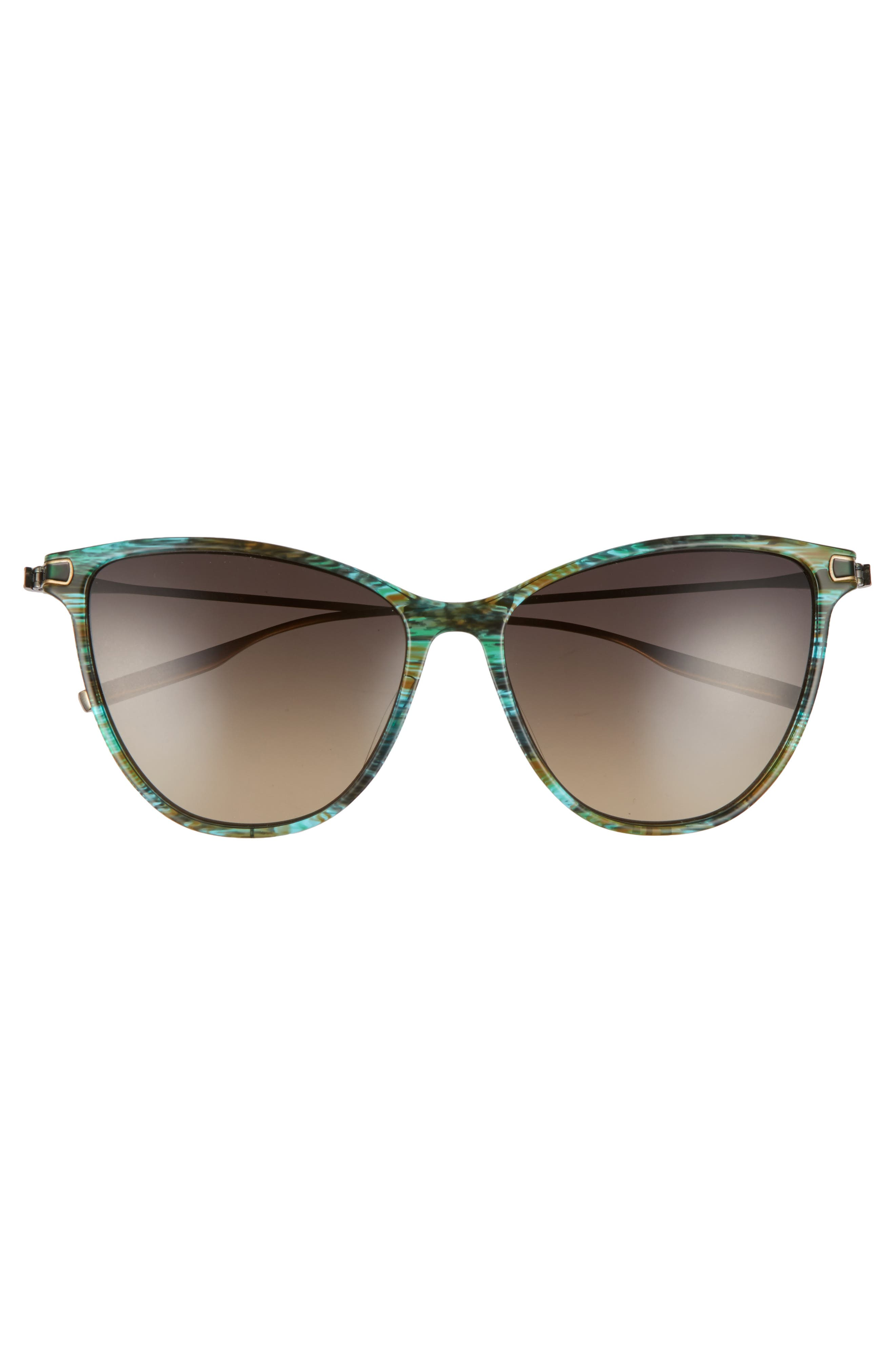 Nia 58mm Polarized Cat Eye Sunglasses,                             Alternate thumbnail 3, color,                             Sandy Sea Green