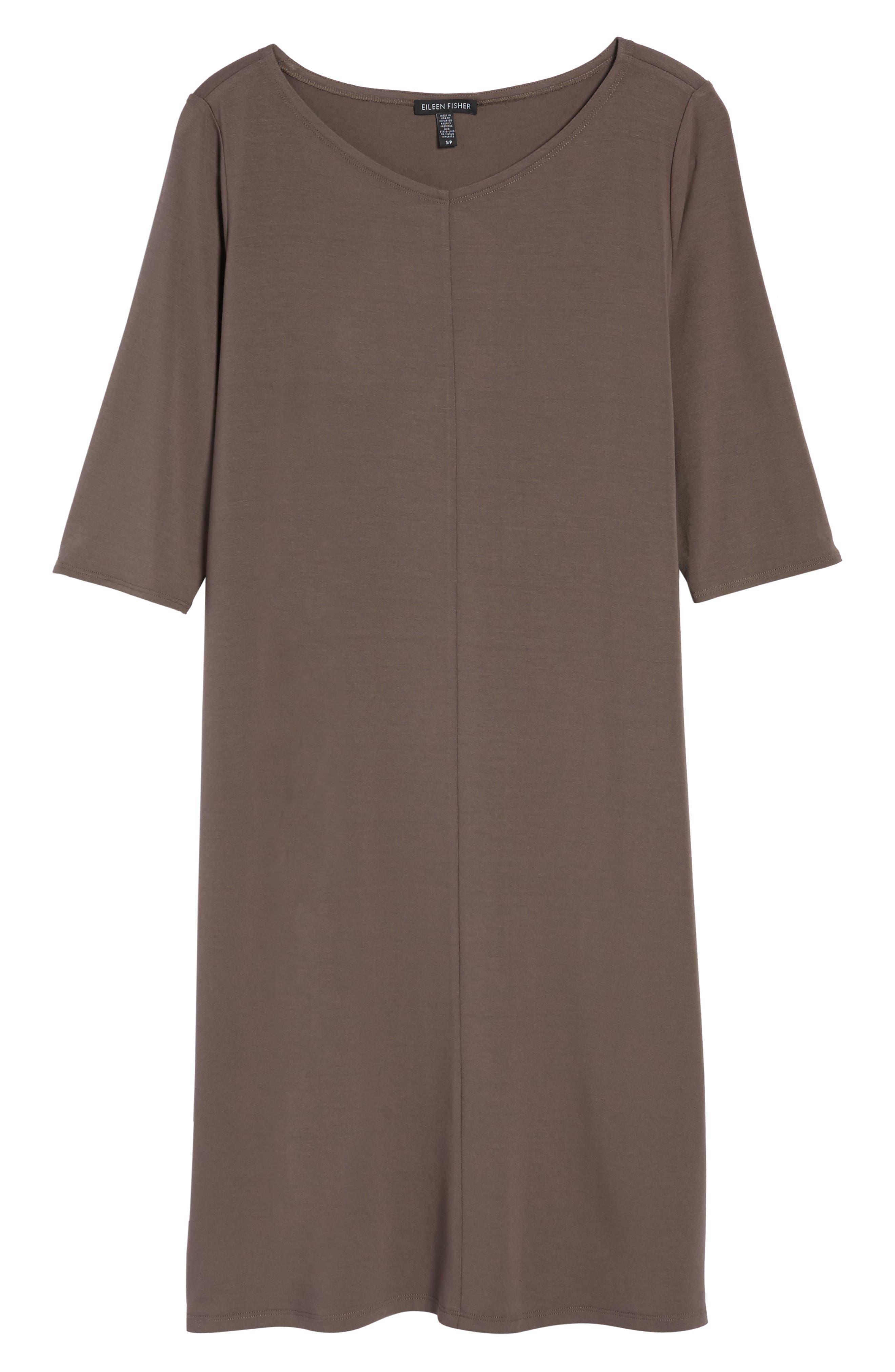 Alternate Image 6  - Eileen Fisher Jersey Shift Dress