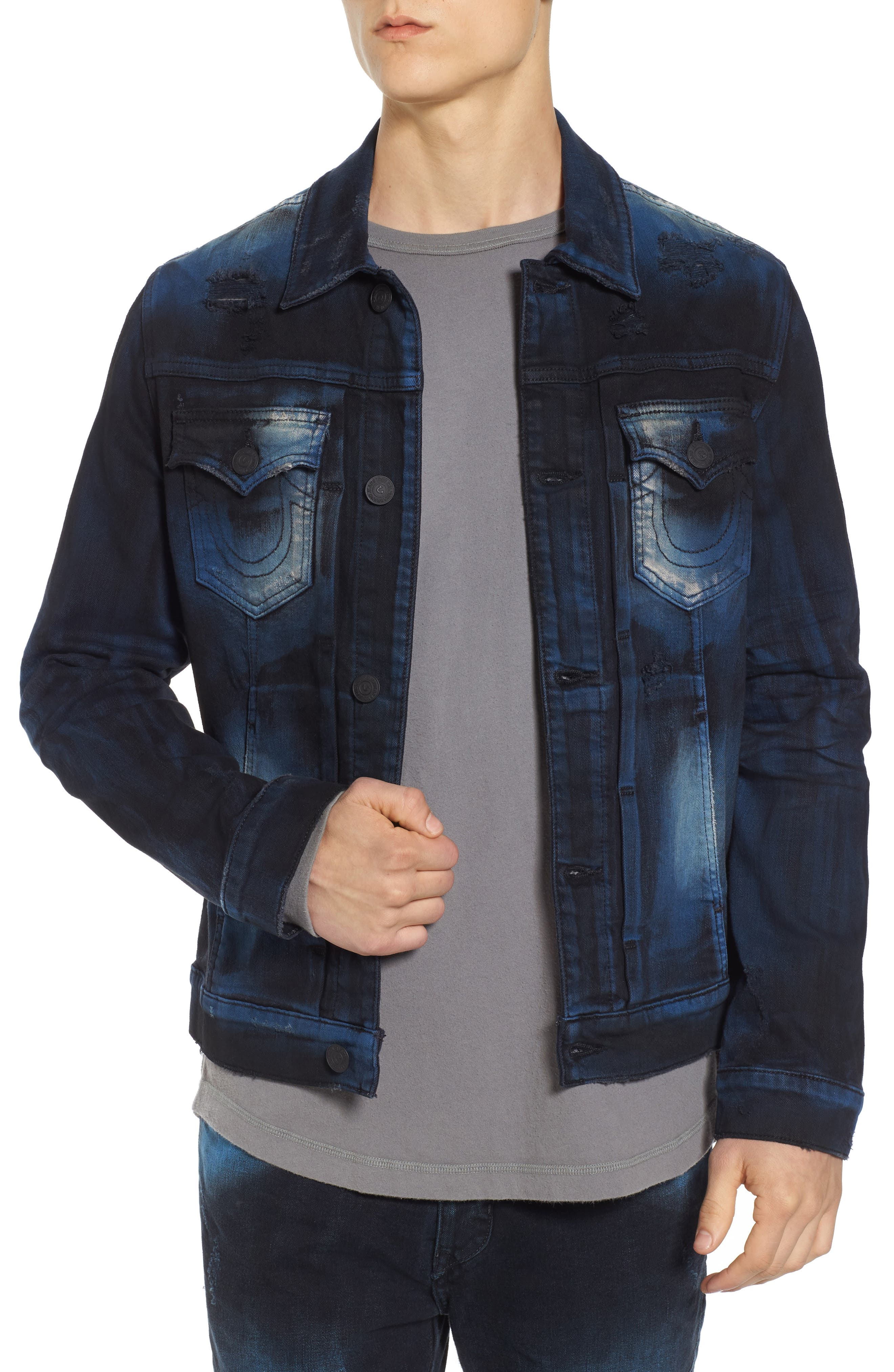True Religion Brand Jeans Dylan Renegade Denim Jacket