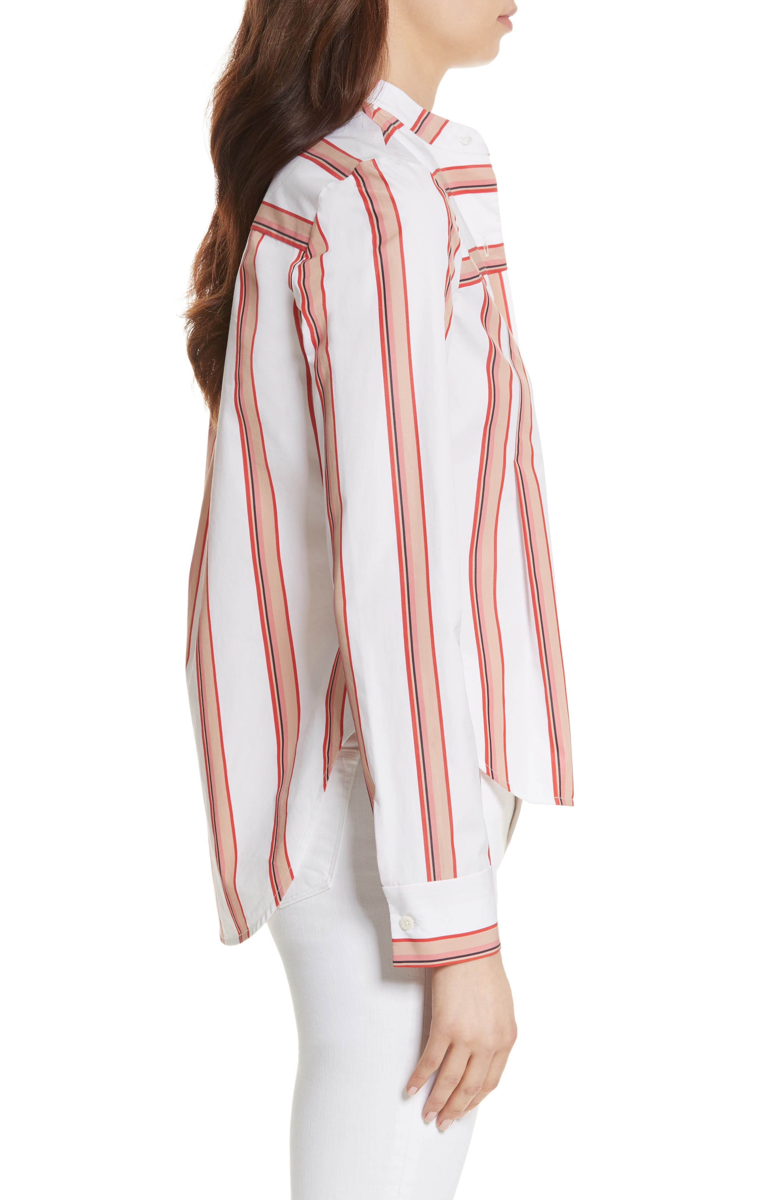 Stripe Shirt,                             Alternate thumbnail 3, color,                             Ivory Multi