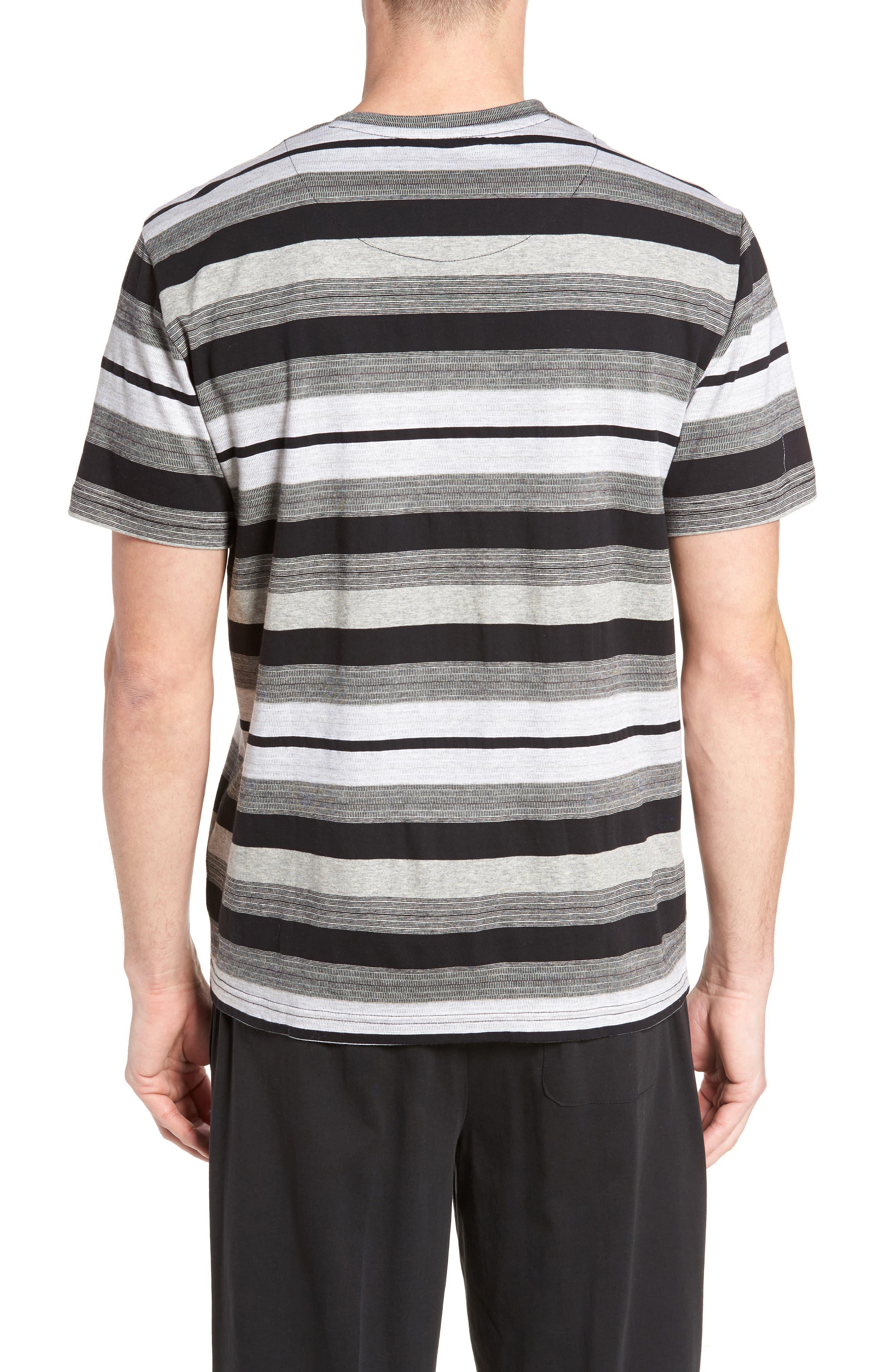 Alternate Image 2  - Majestic International Stripe V-Neck T-Shirt