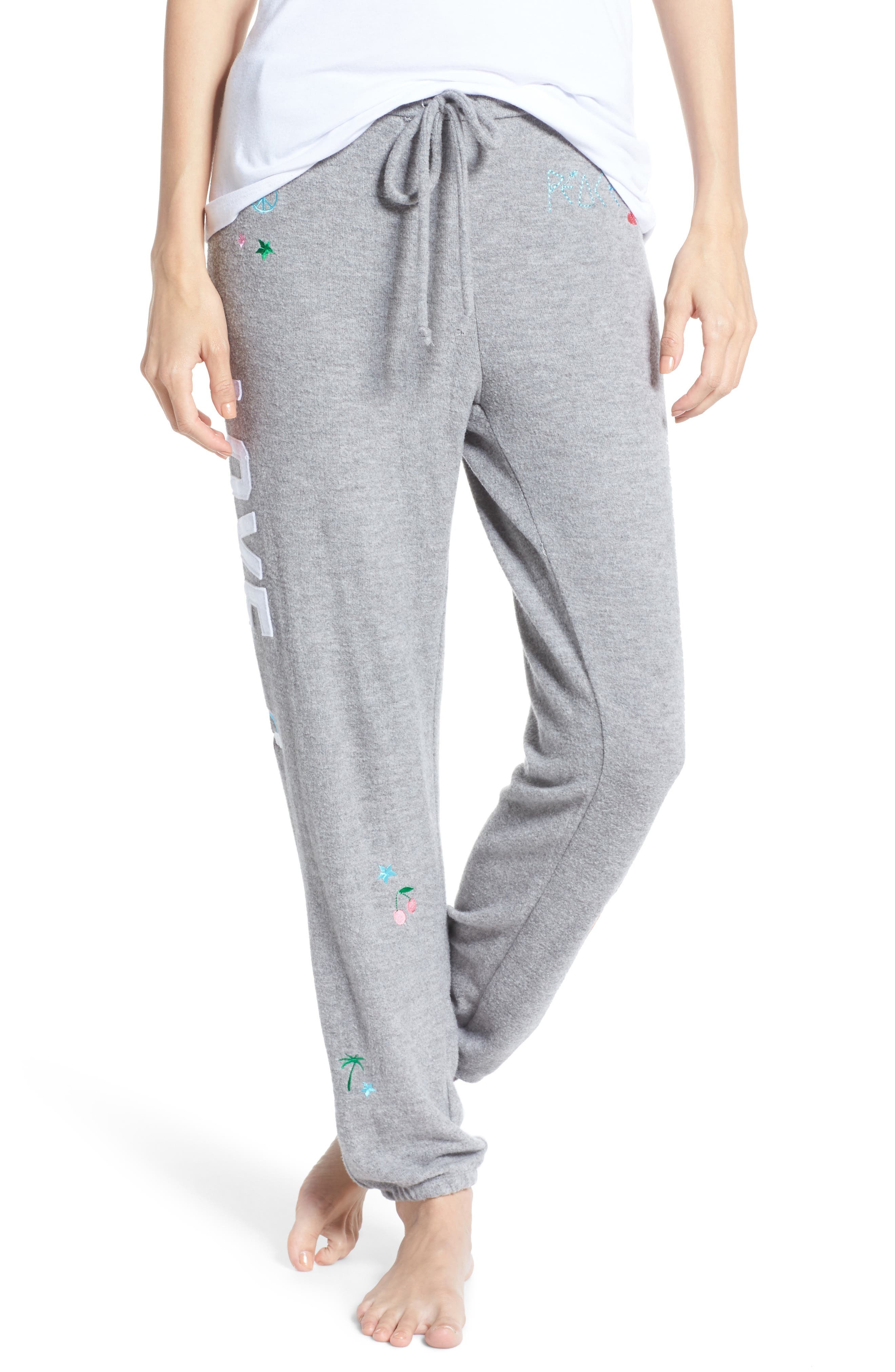 Patched Up Lounge Sweatpants,                             Main thumbnail 1, color,                             Heather Grey