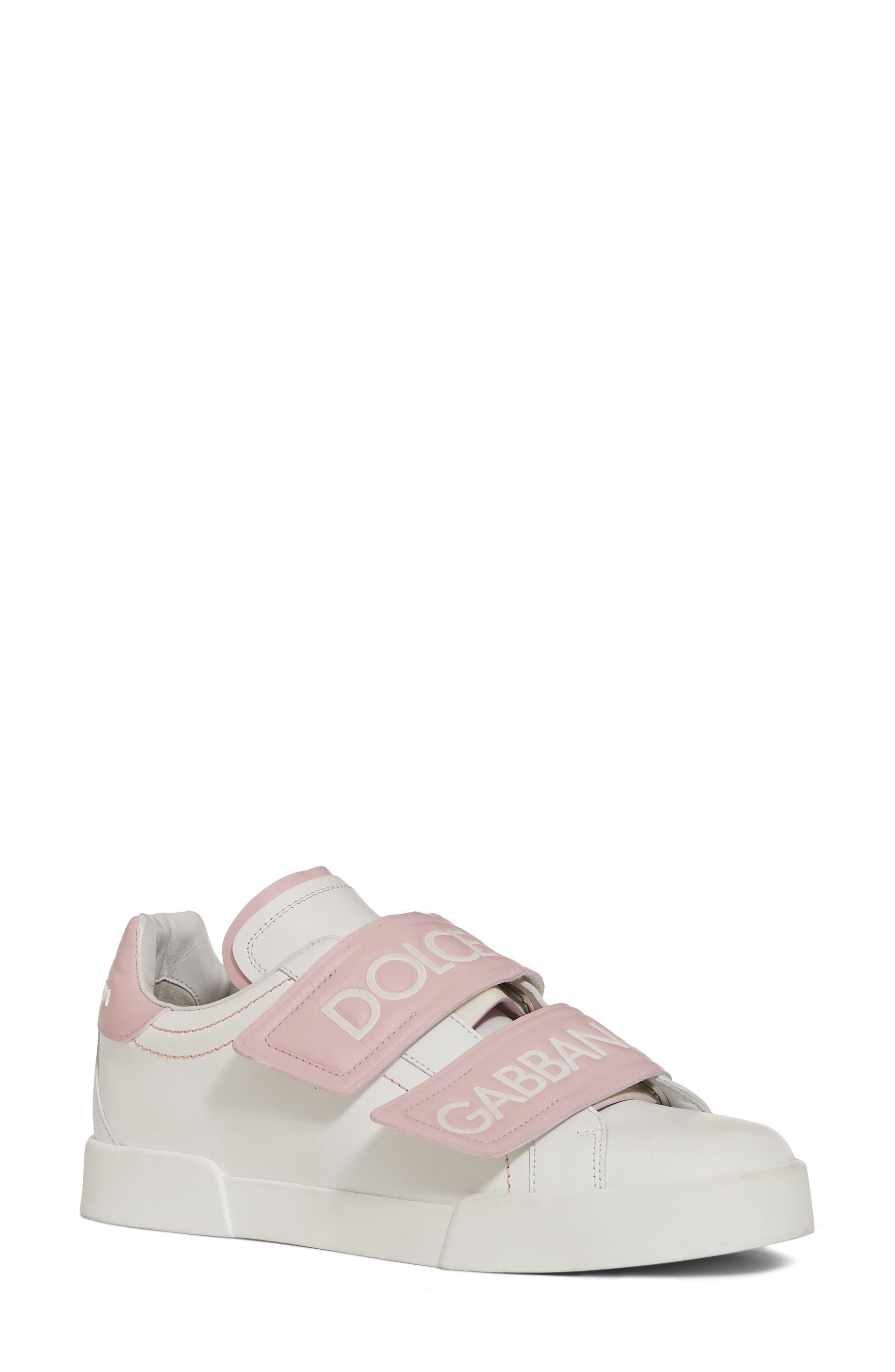 Alternate Image 1 Selected - Dolce&Gabbana Logo Strap Sneaker (Women)