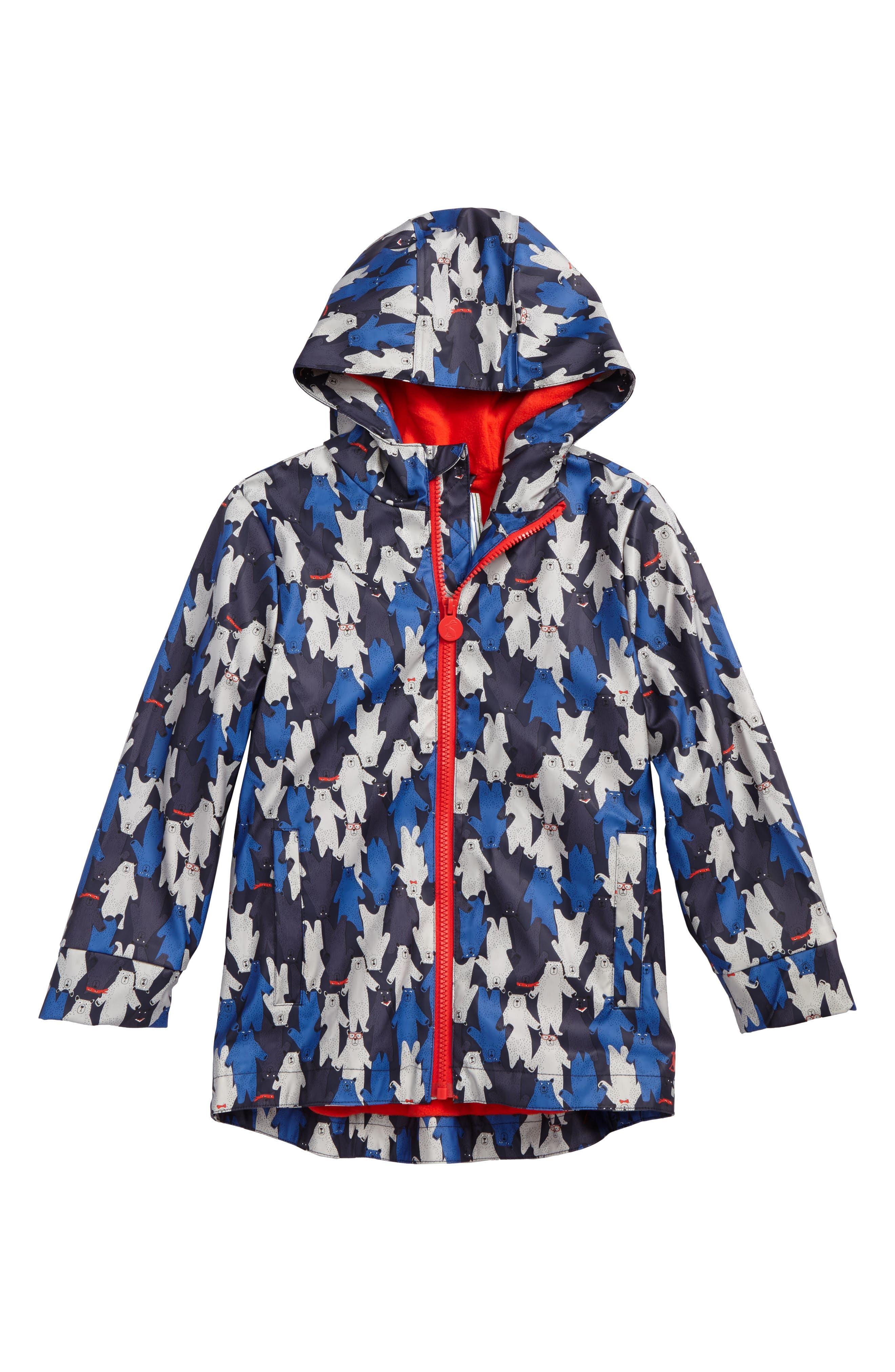 Joules Fleece Lined Rain Jacket (Toddler Boys & Little Boys)
