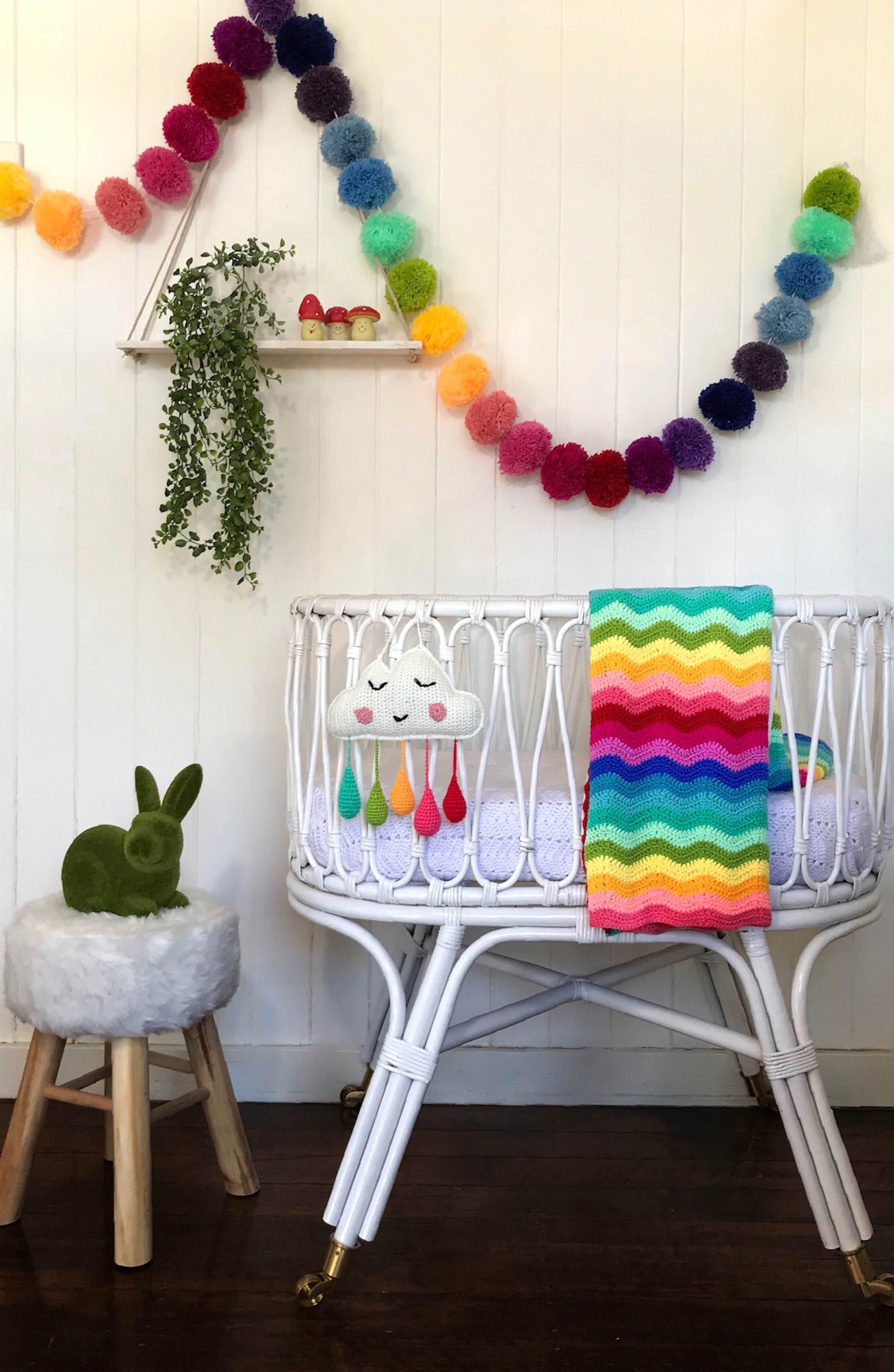 Alternate Image 6  - O.B. Designs Ripple Crocheted Blanket (Baby)