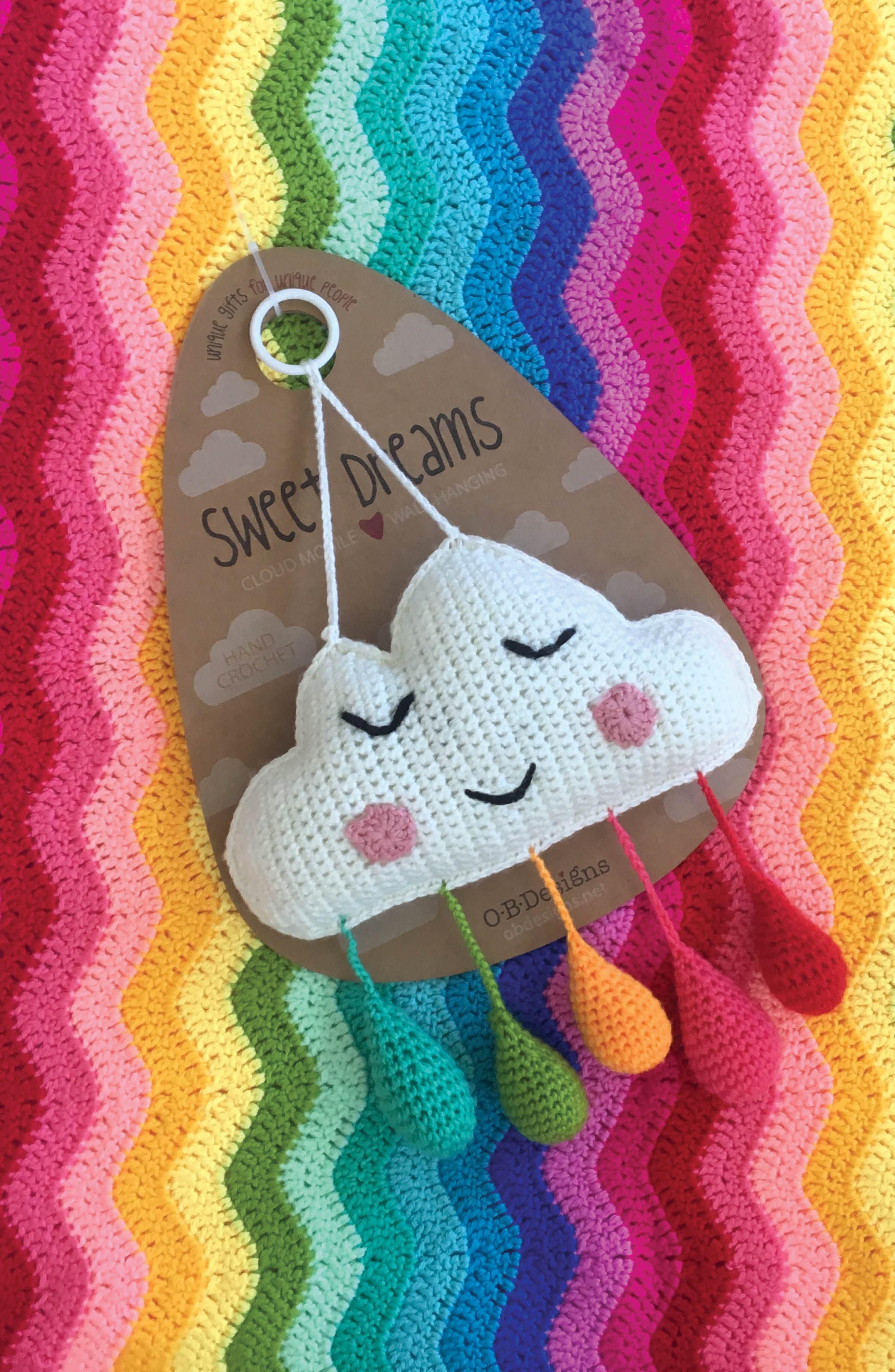 Alternate Image 9  - O.B. Designs Ripple Crocheted Blanket (Baby)